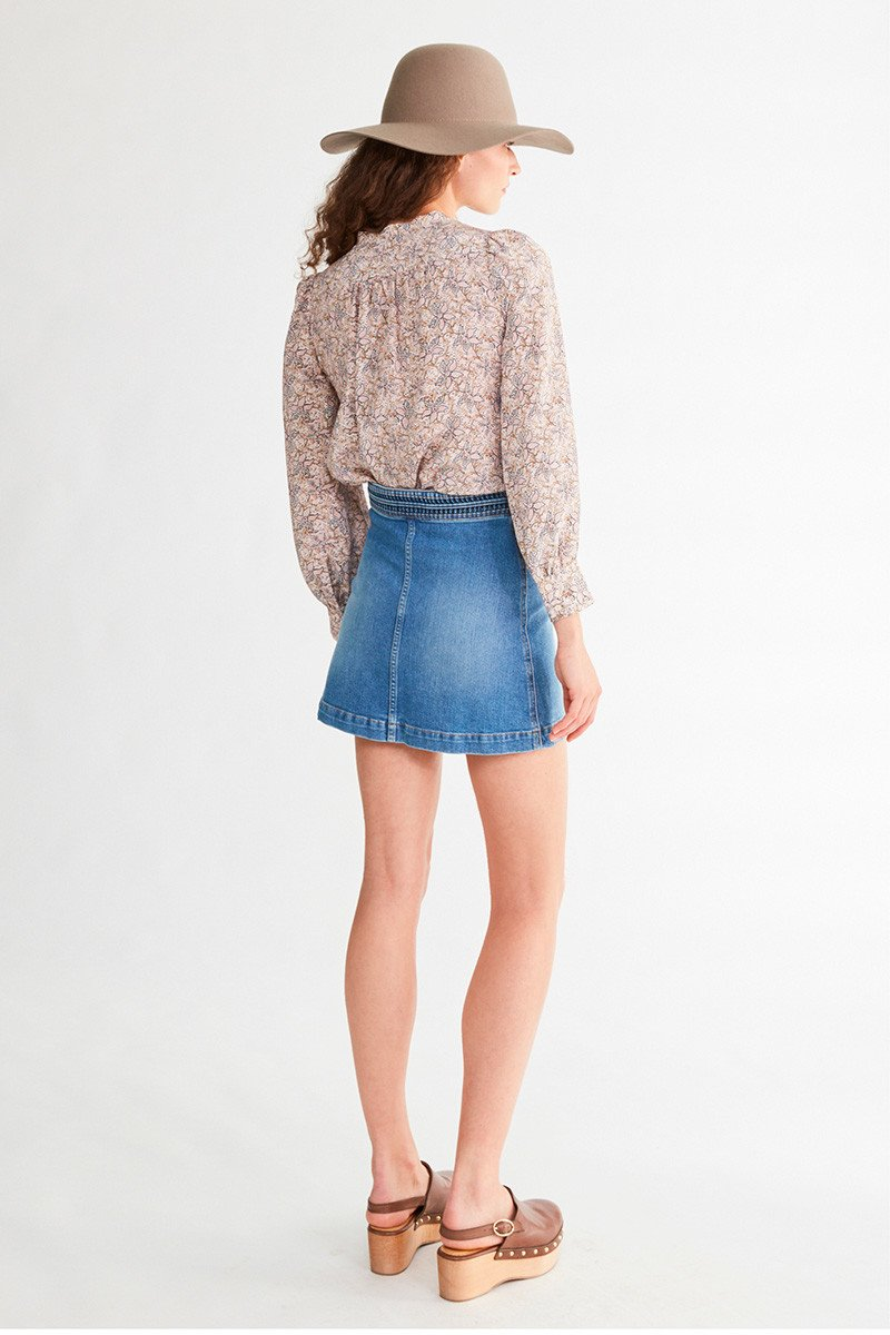 Vanessa Bruno Womens Skirts Vanessa Bruno | Naoto Denim Skirt - Indigo Claire