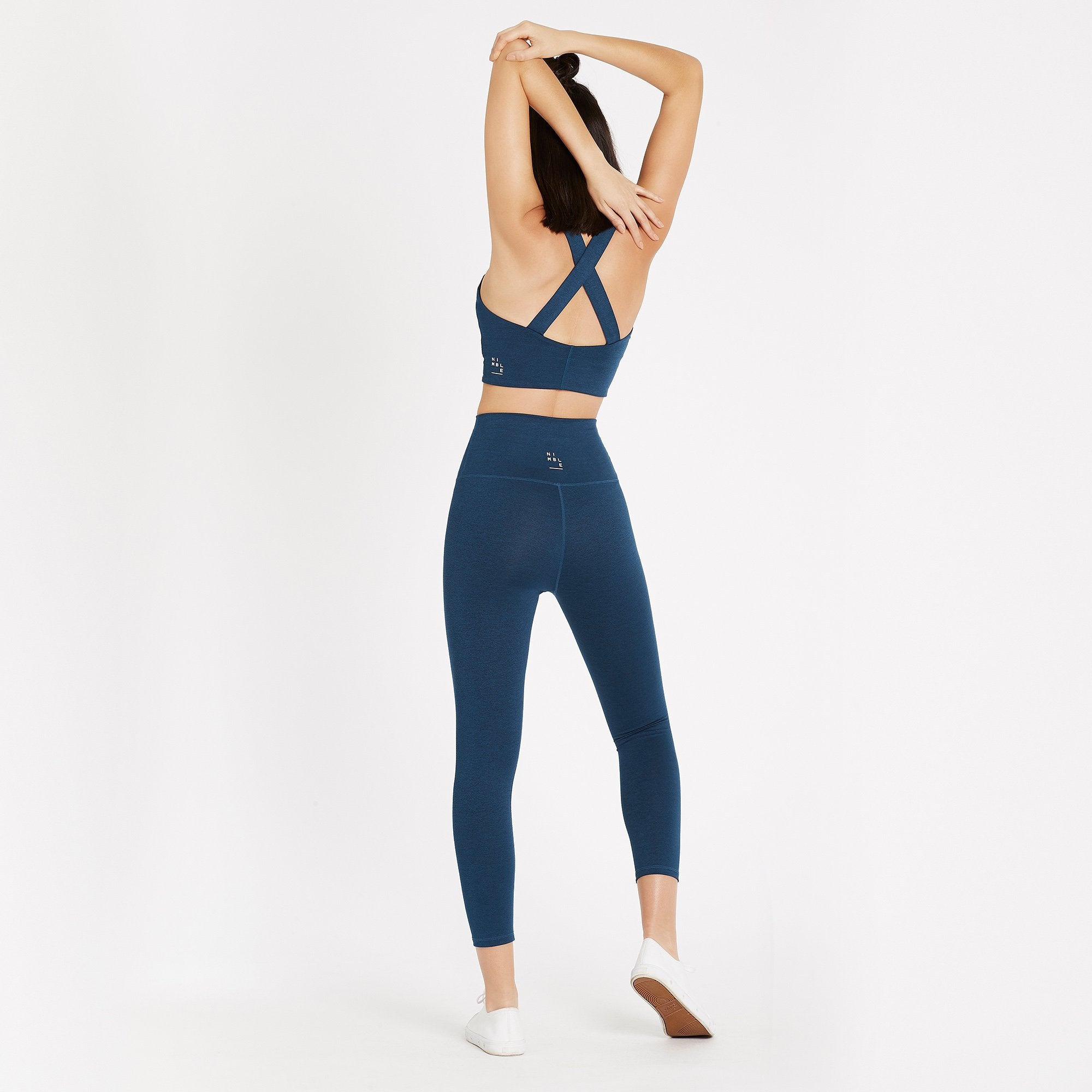 Nimble Activewear Activewear Nimble Activewear | Studio Cross Back Bra - Blue Depths