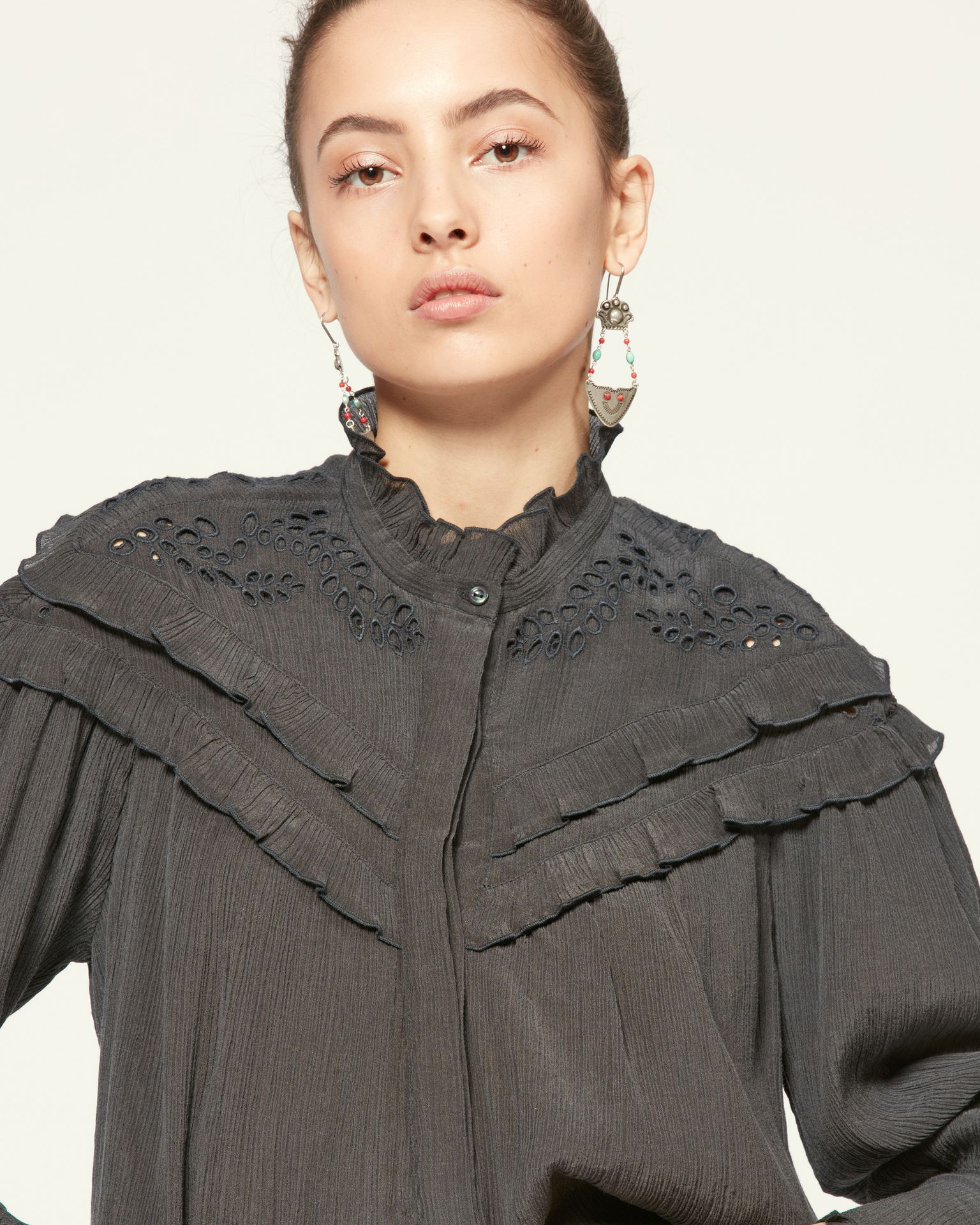 Isabel Marant Womens Tops Isabel Marant | Izae Top - Faded Black