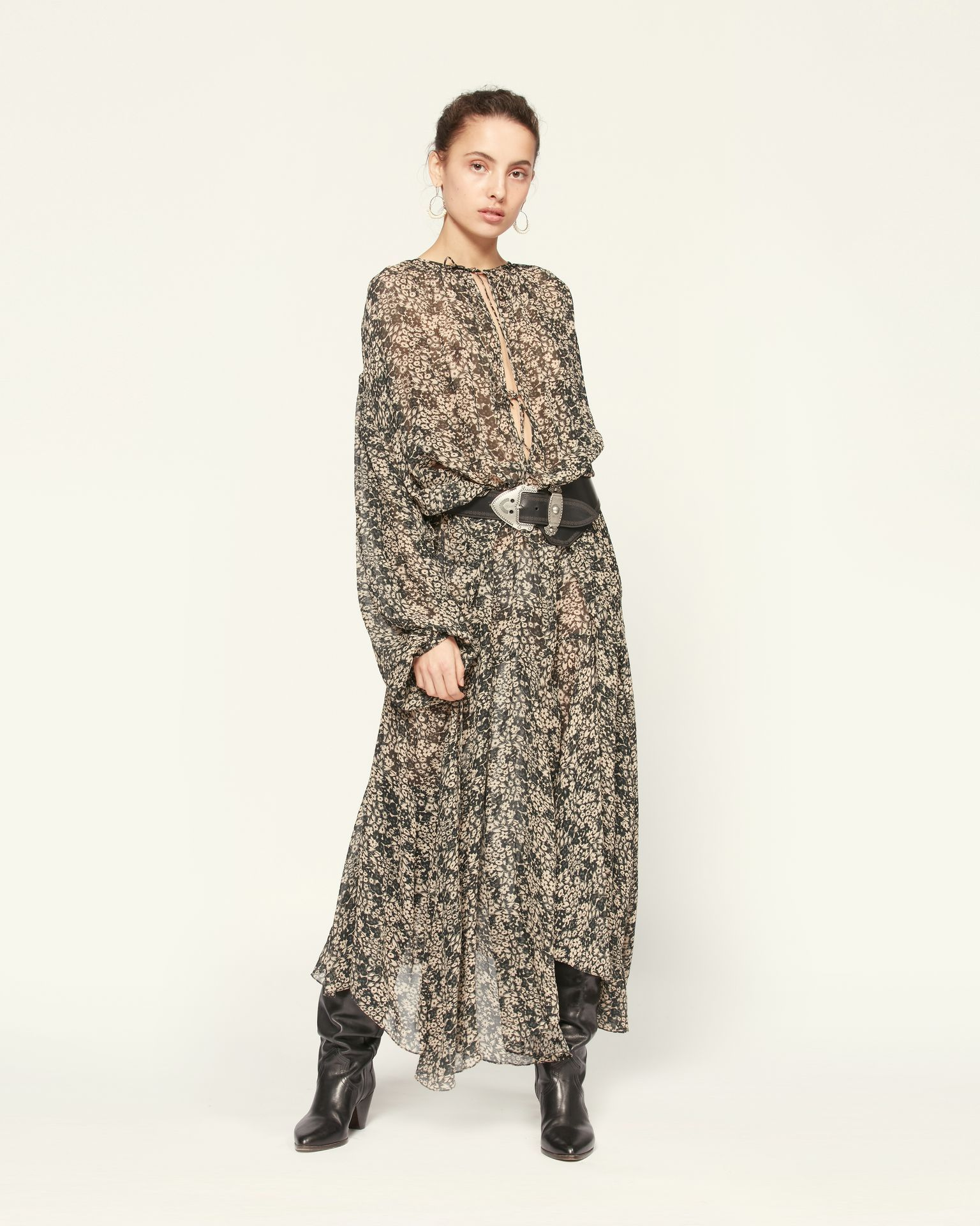 Isabel Marant Womens Dress Isabel Marant Etoile | Laureli Dress - Chalk