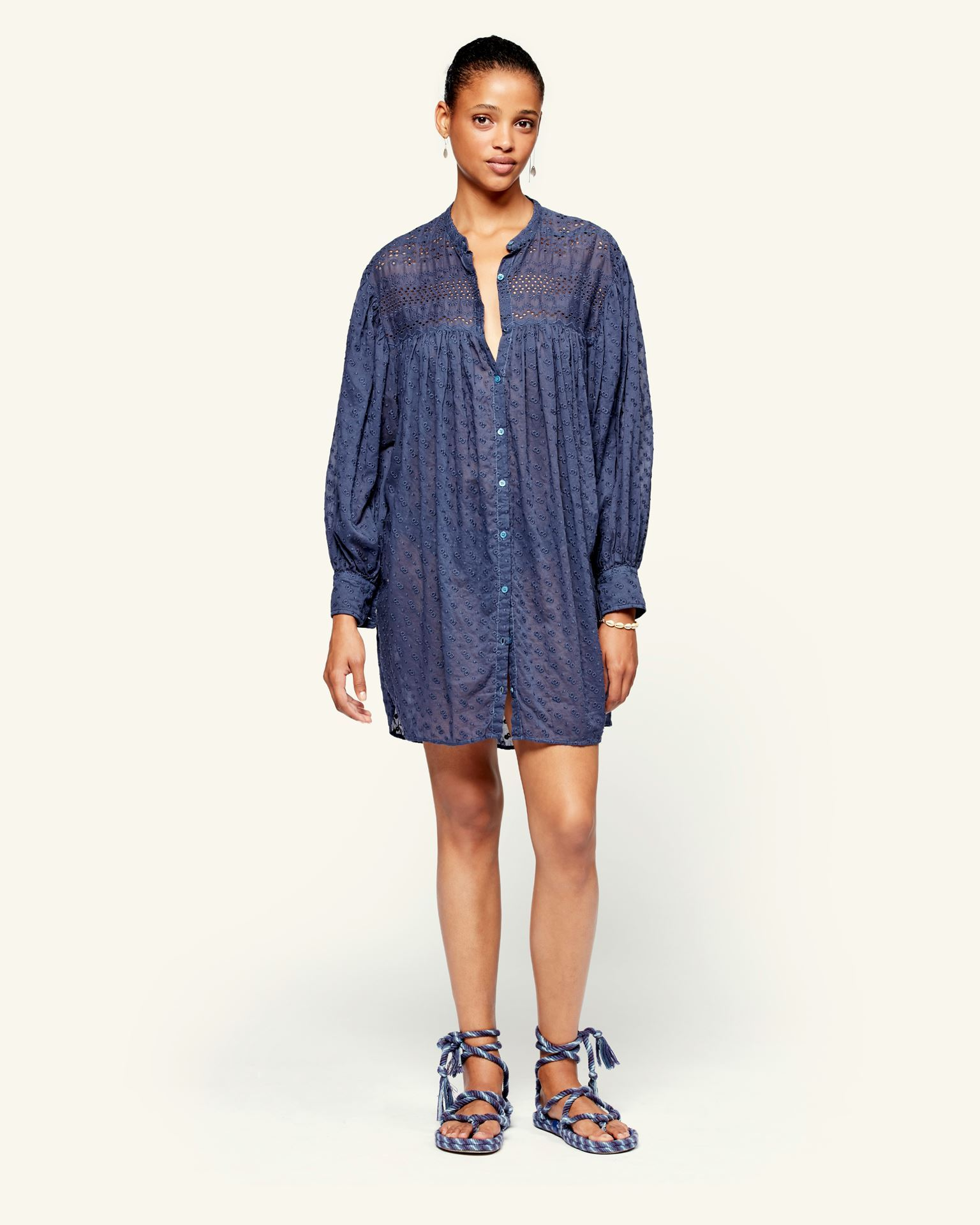 Isabel Marant Womens Dress Isabel Marant Etoile | Tilalia Dress - Faded Night