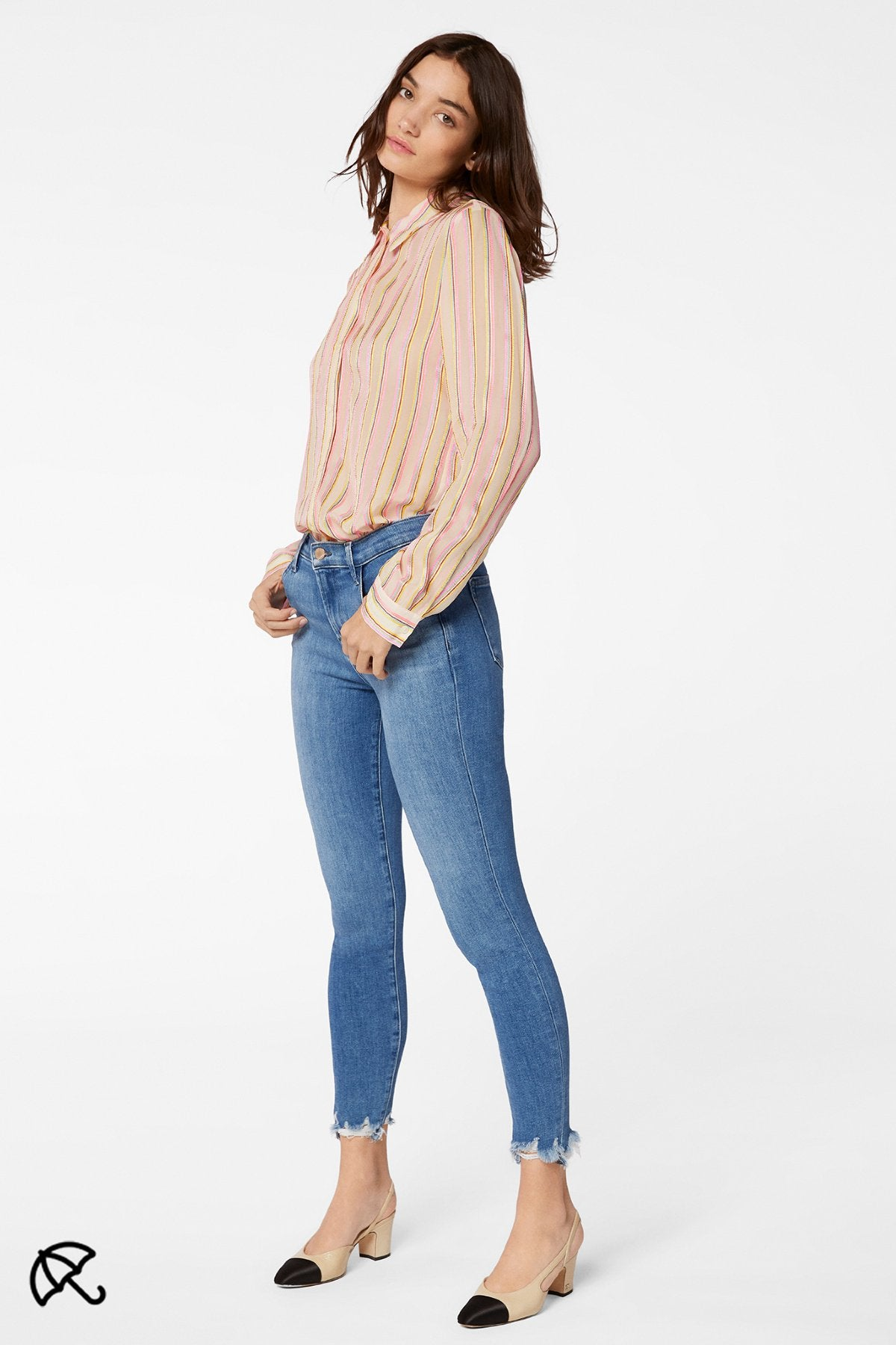 Edwards Imports Ltd Womens Jeans TRUELVDSTRCT / 24 J Brand | Alana High Rise Crop Skinny  - True Love Destruct
