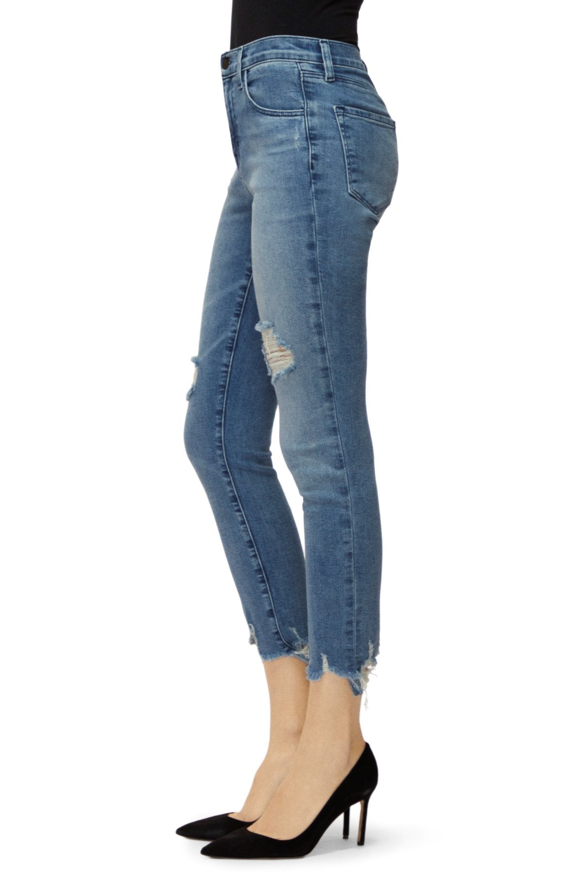 Edwards Imports Ltd Womens Jeans J Brand | Alana High Rise Cropped Skinny Jeans - Fix Up Destruct