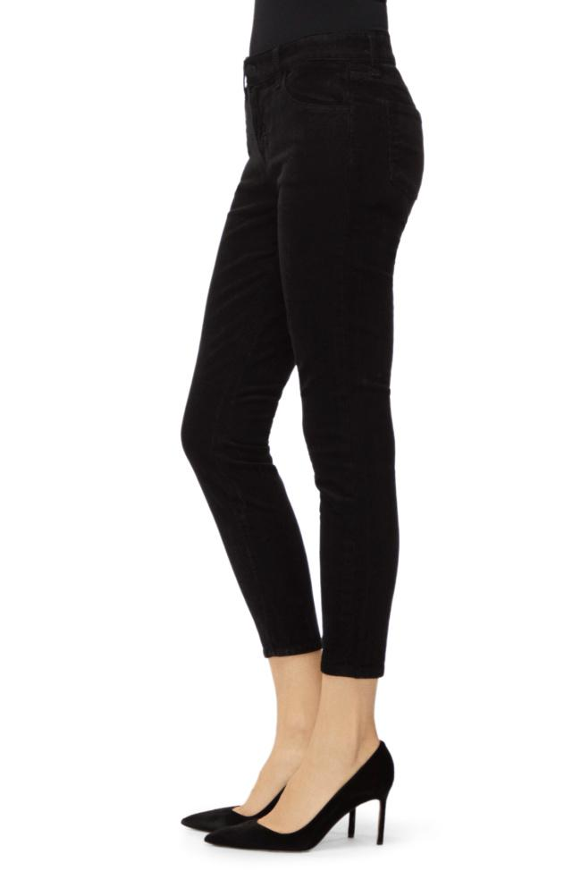 Edwards Imports Ltd Womens Jeans J Brand | 835 Mid Rise Cropped Skinny Jeans - Black Cord