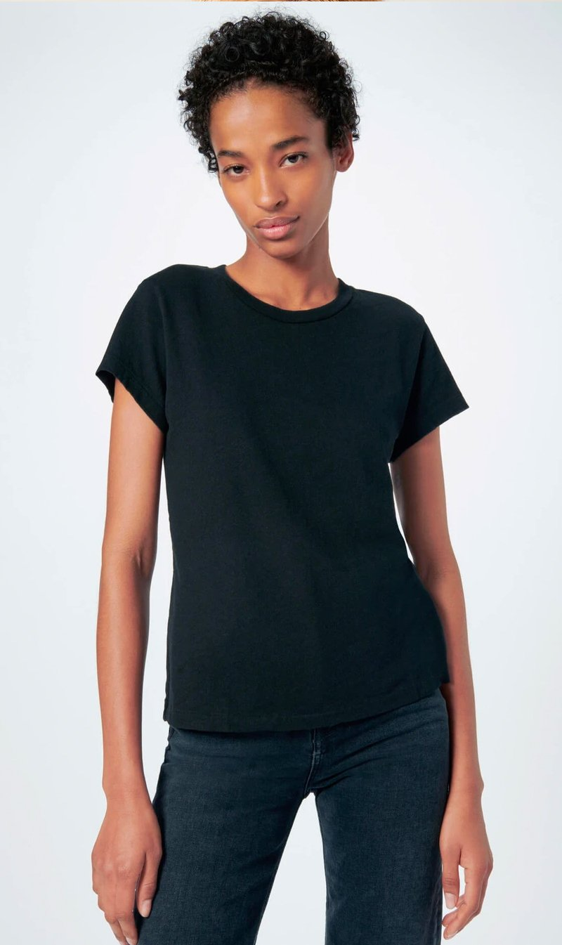 REDONE LLC Womens T Shirt RE/DONE | 1960's Slim Tee - Black