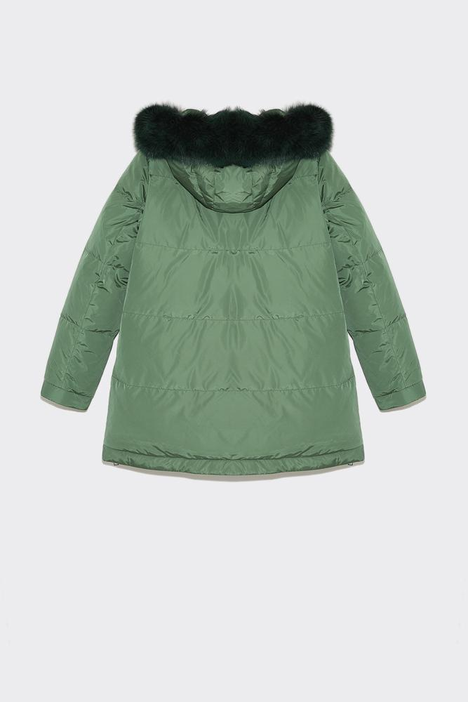 Yves Salomon Womens Jacket Yves Salomon | Douodune Fox - Malachite