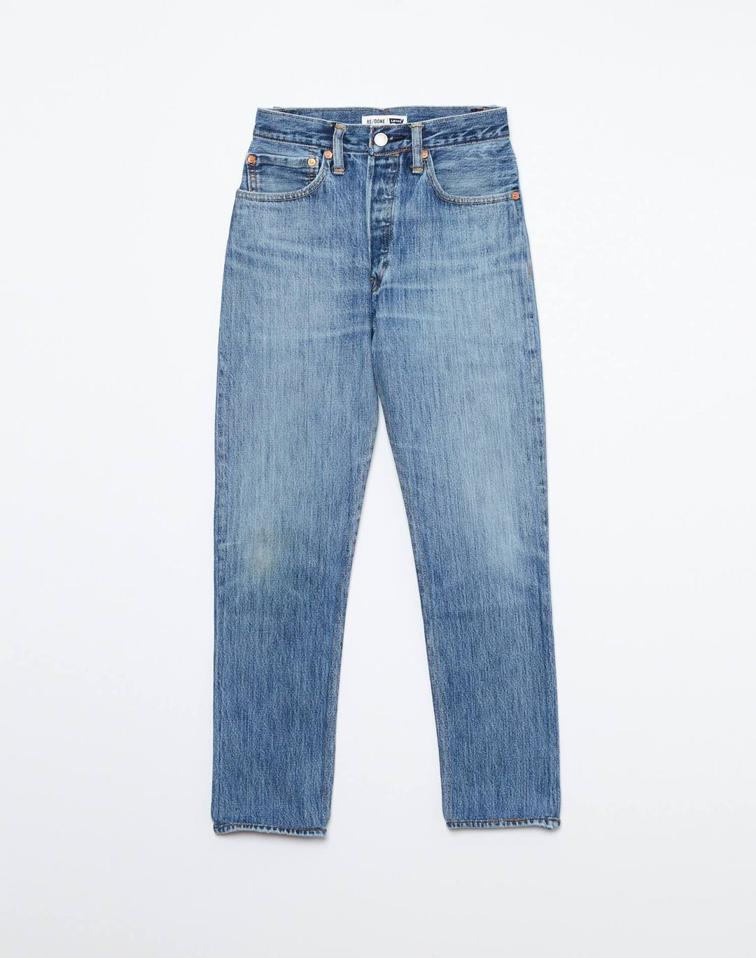 Re Done Womens Jeans RE/DONE | High Rise Ankle Crop - Indigo