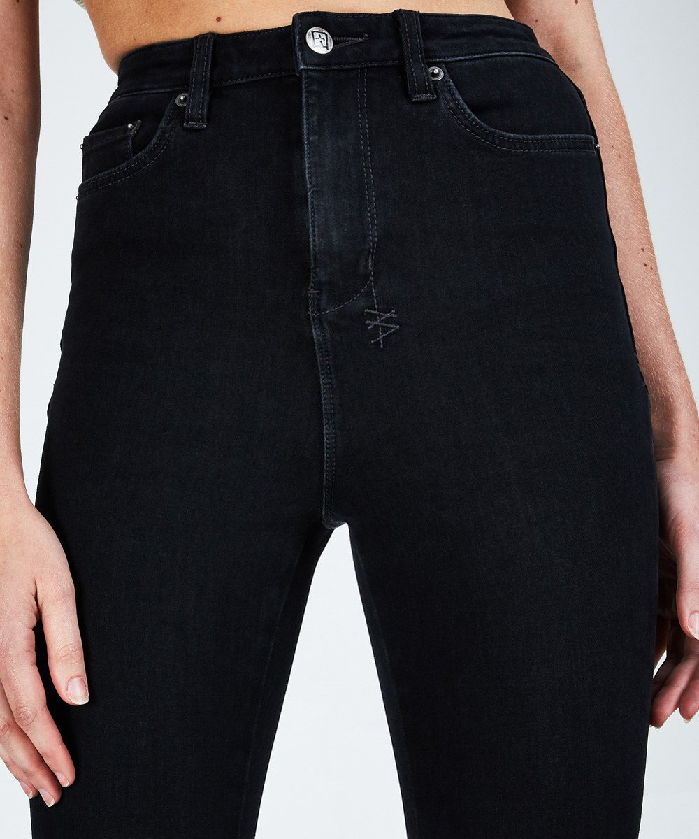 Stem Distribution Limited Womens Jeans NOIR / 24 Ksubi | Hi N Wasted Jean - Noir