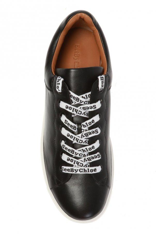 Onward Luxury Group SHOE See by Chloé | Logo Lace Sneaker - Black