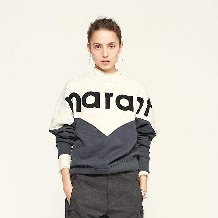 Isabel Marant Womens Tops Isabel Marant Etoile | Houston Sweatshirt - Faded Black