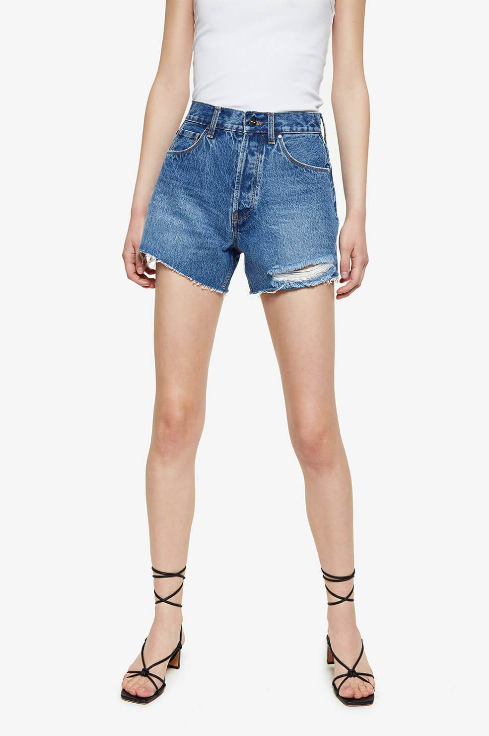 Anine Bing Womens Shorts Anine Bing | Gina Short - Blue Sea