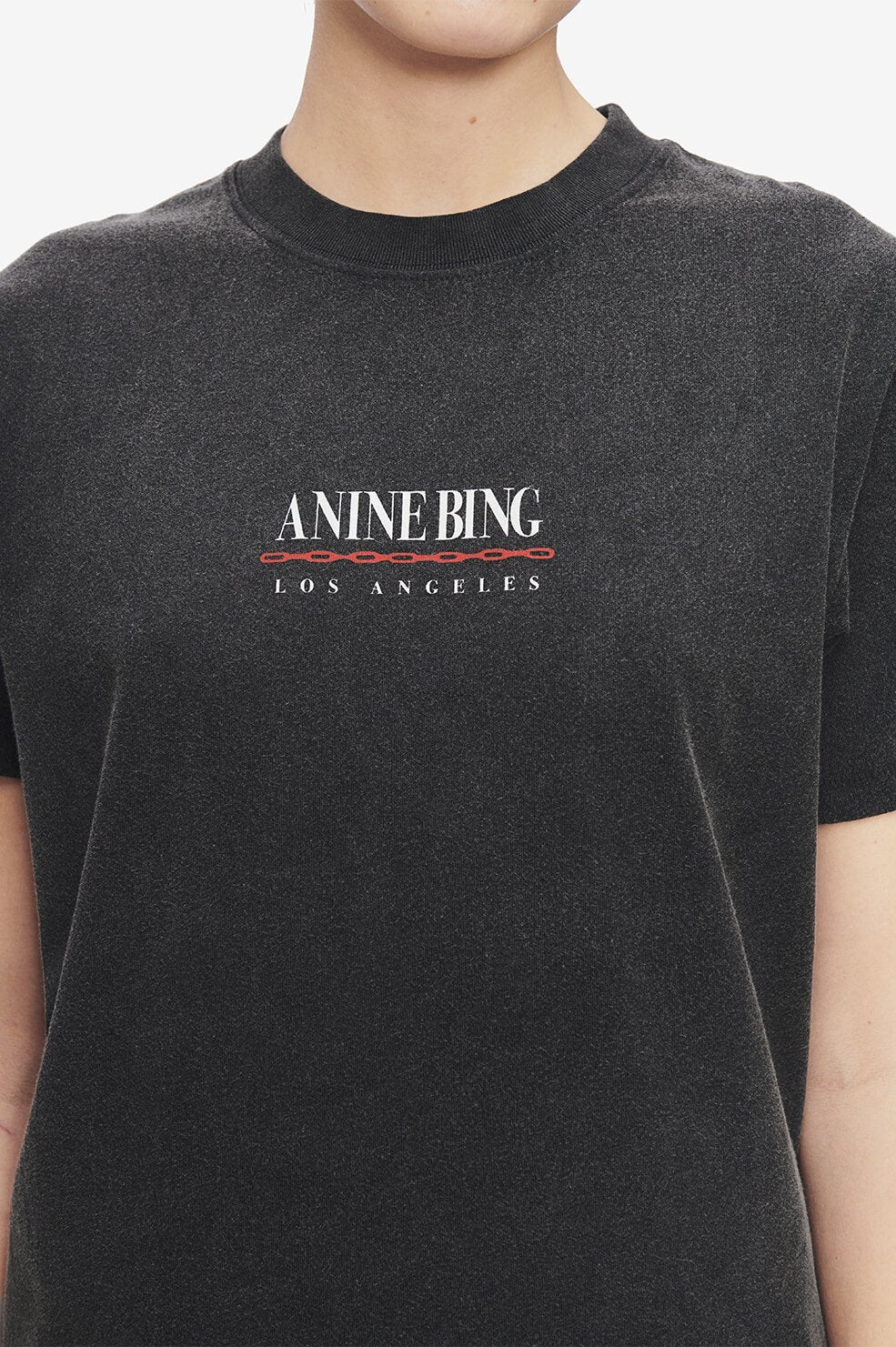 Anine Bing Womens T Shirt Anine Bing | Lili Link Tee - Washed Black
