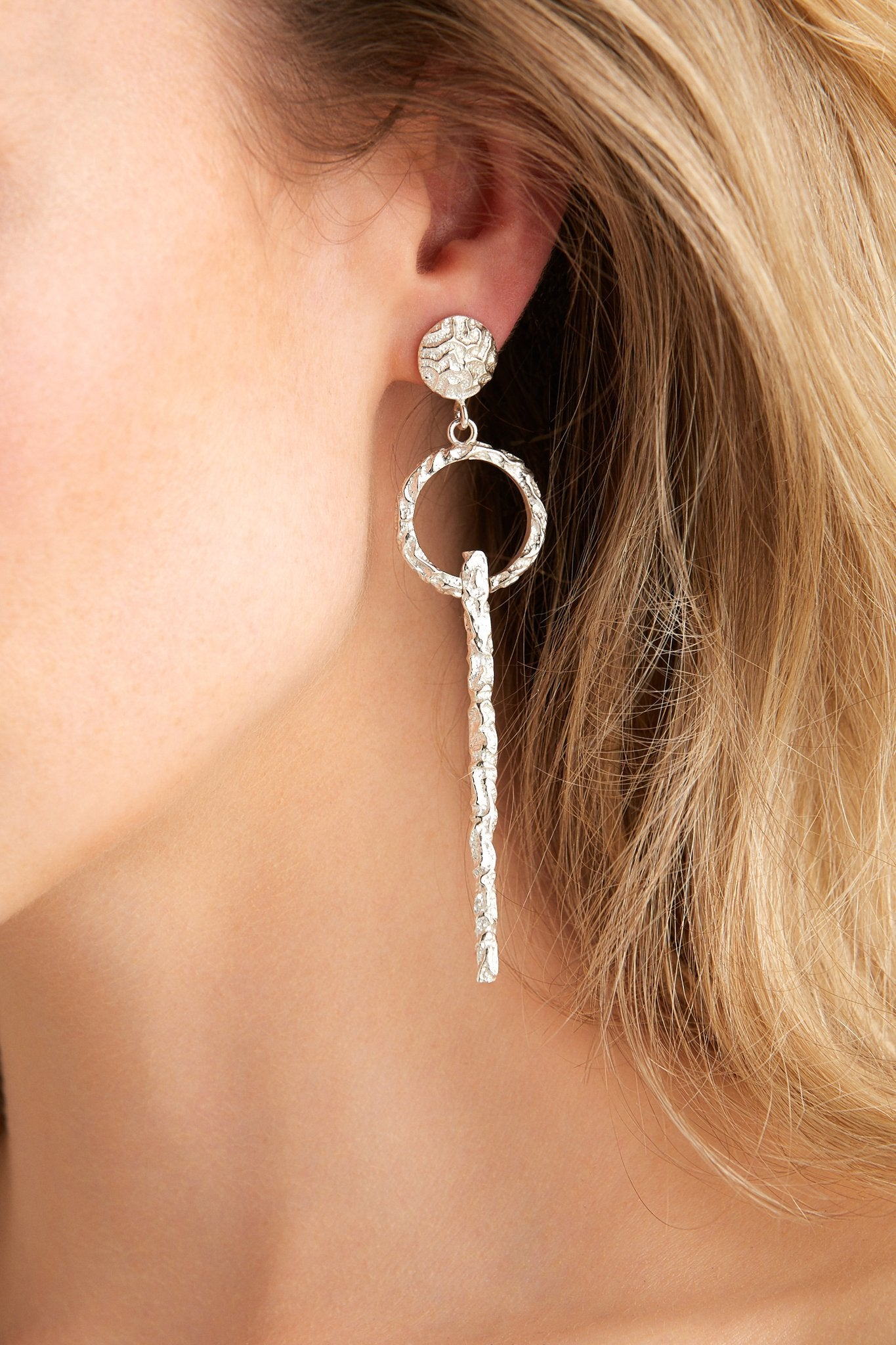 Love & Object Jewellery SILVER Olympia By Love & Object | Adona Keyhole Earrings - Silver