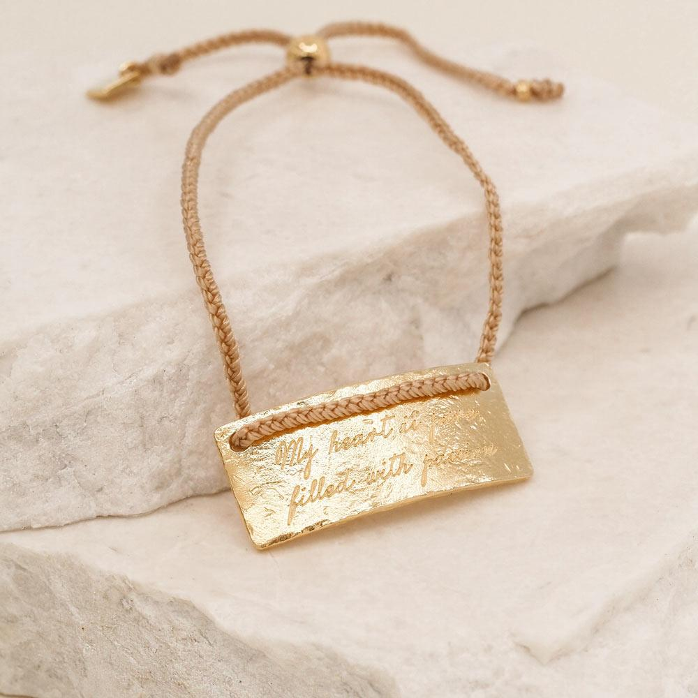 By Charlotte Jewellery GOLD By Charlotte | Aries Cord Bracelet - Gold
