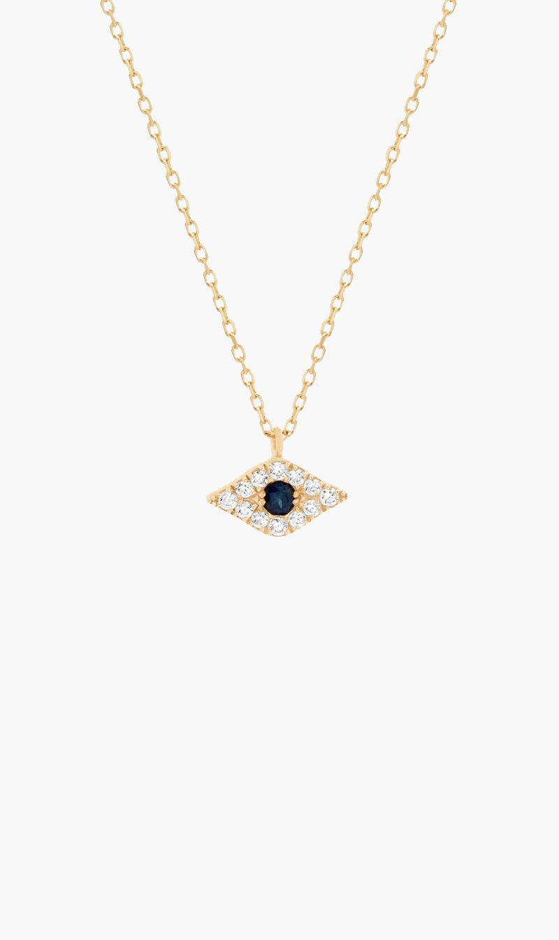 By Charlotte Jewellery GOLD By Charlotte | Evil Eye Necklace - 14k Gold