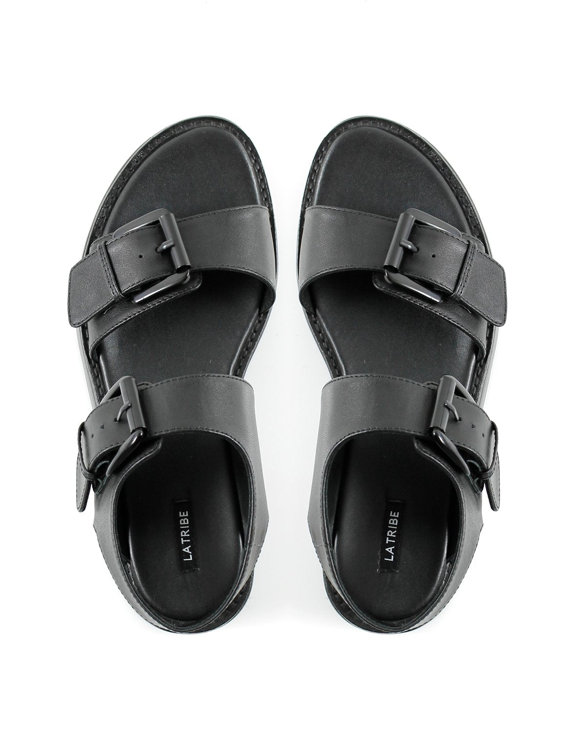 Summer Sun SHOE La Tribe | Buckle Sandal - Black