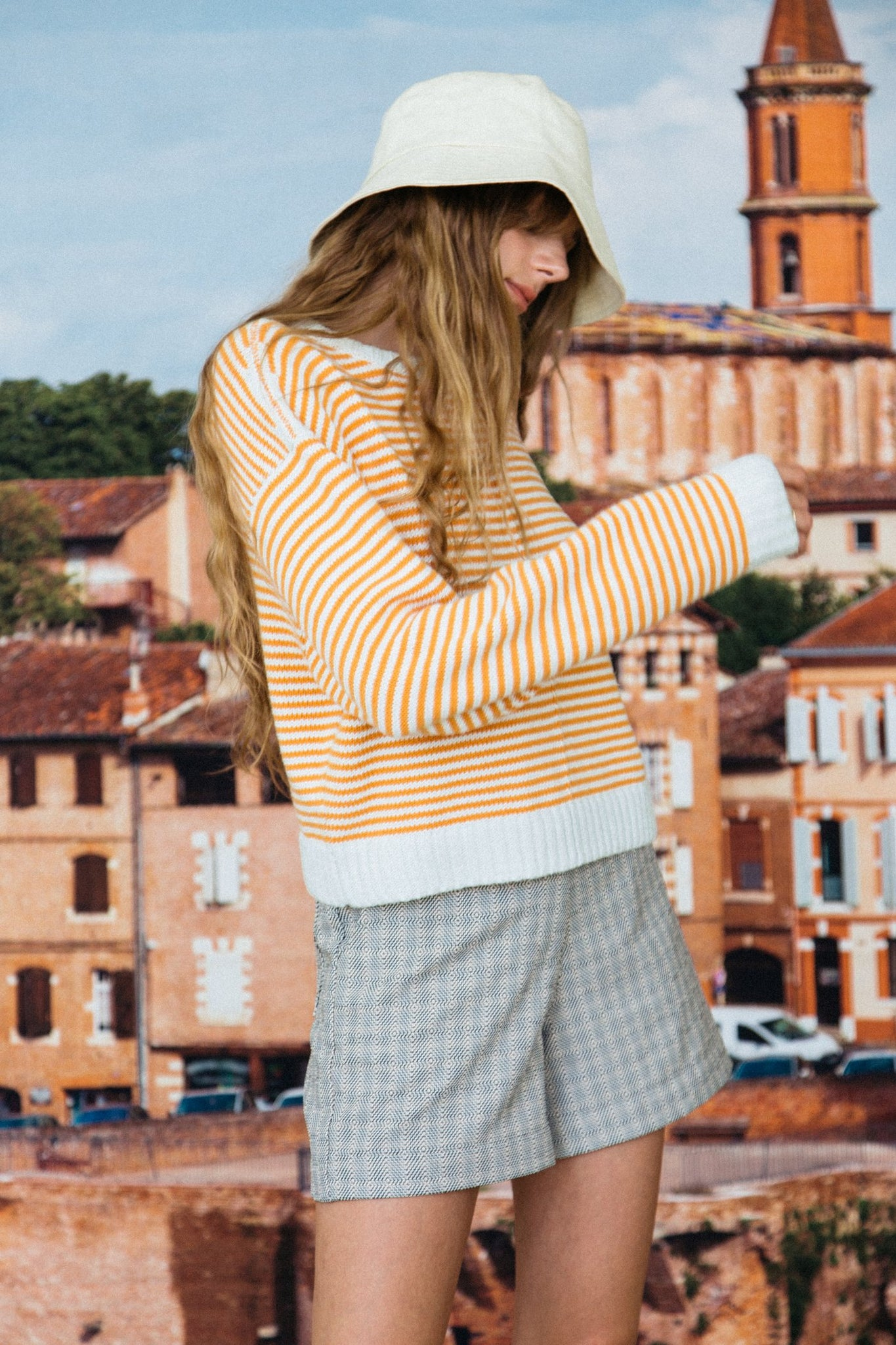 Ciao Lucia | Nonno Crew neck - Orange