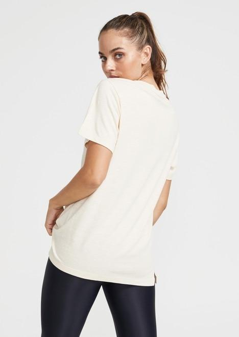 P.E NATION Activewear PE Nation | Corner Turn Tee - Pearled Ivory