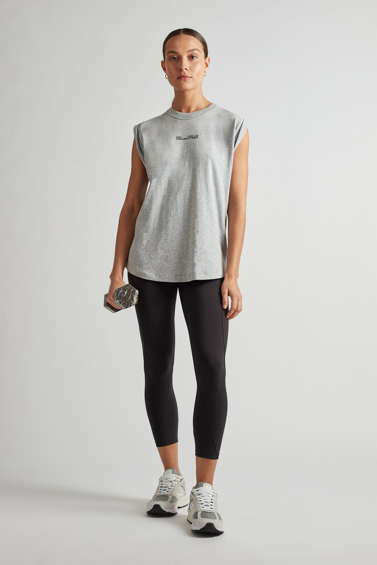 Camilla and Marc Womens Tops C&M | Cadiz Logo Tank - Grey