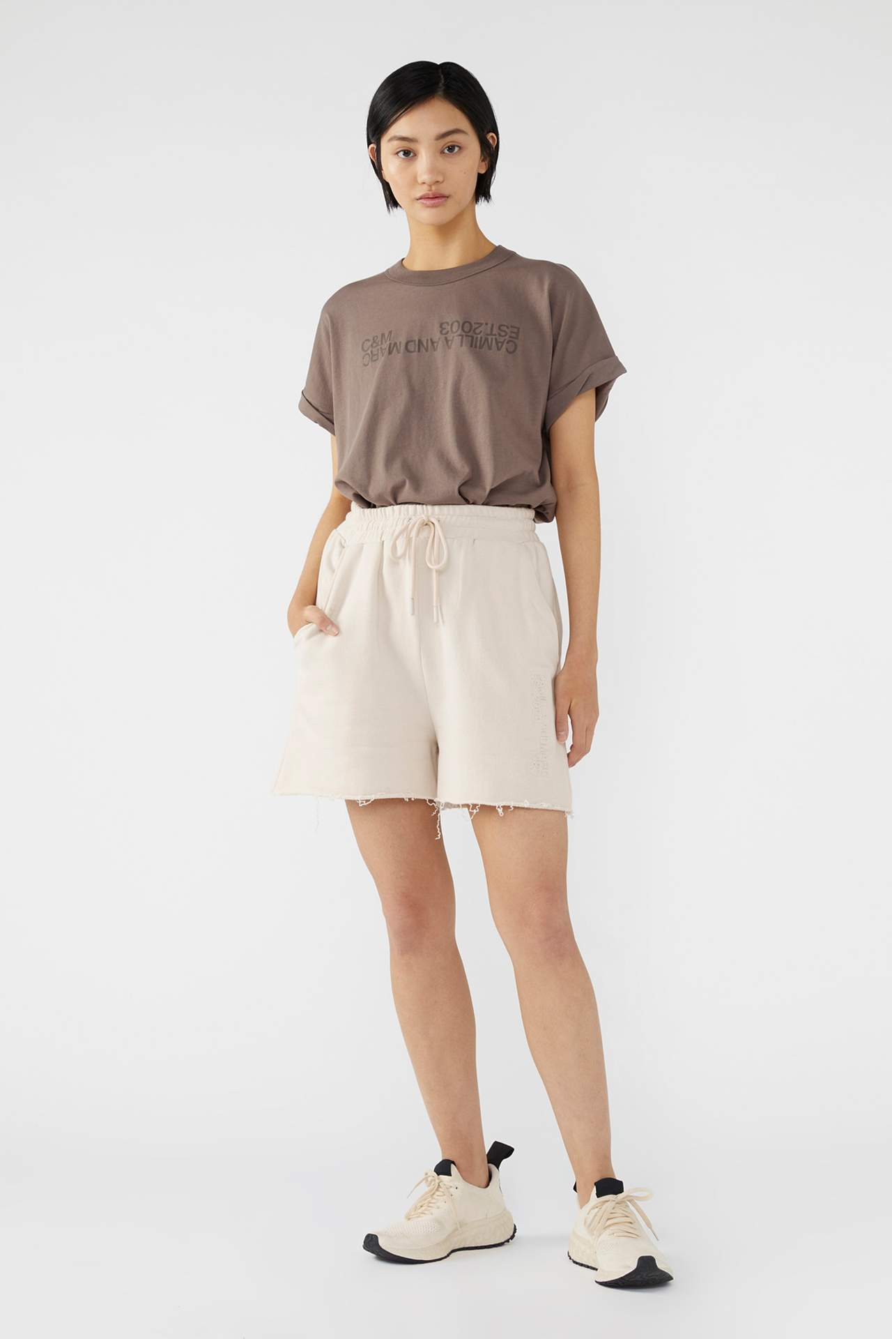 Camilla and Marc Womens T Shirt C&M | Huntington Tee 2.0 - Ash
