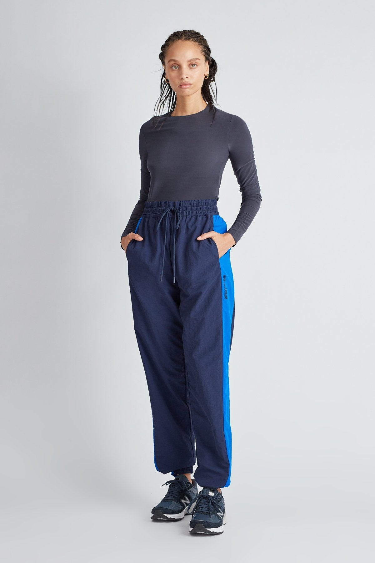 Camilla and Marc Womens Pants C&M | Jukes Track Pant - Navy / Cobalt
