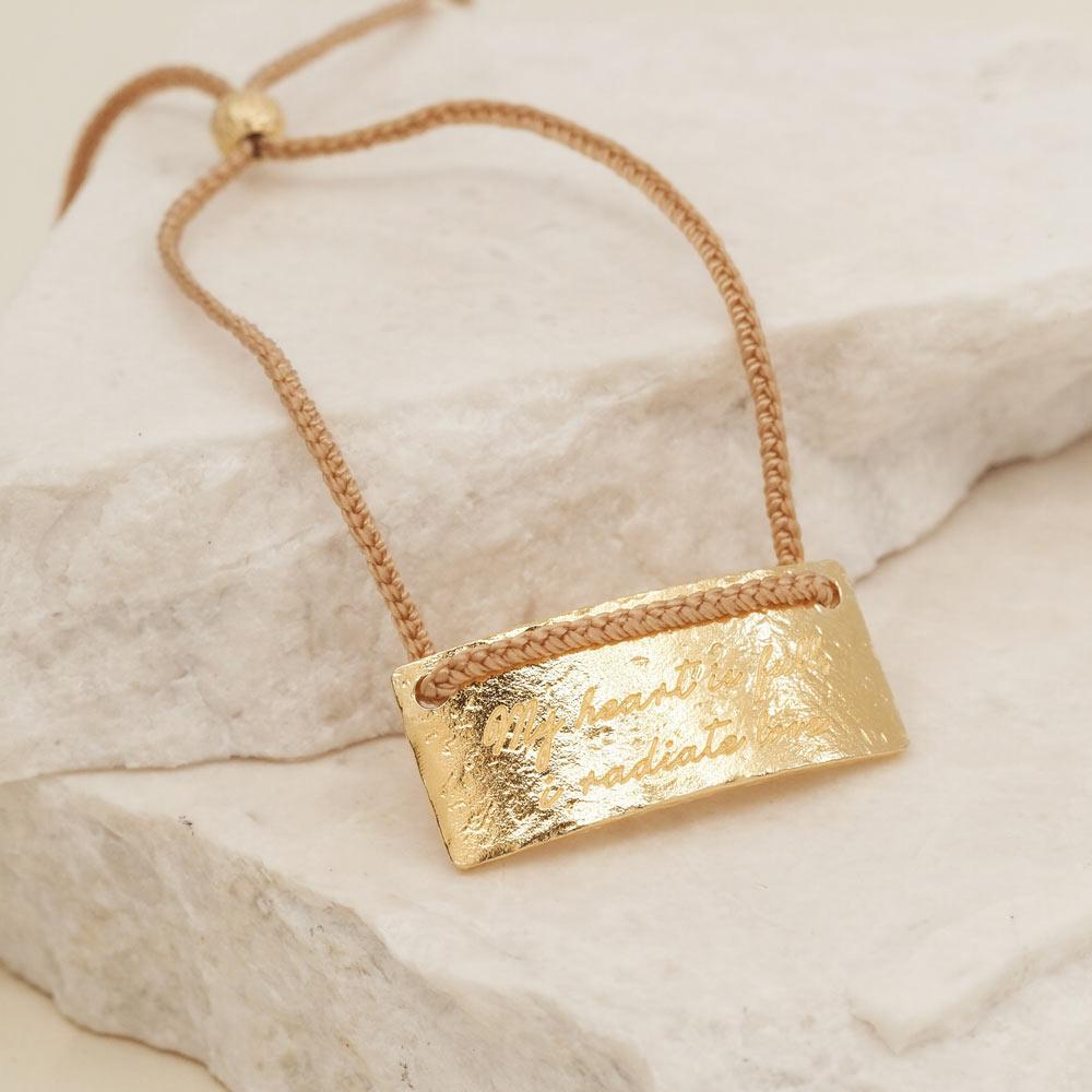 By Charlotte Jewellery GOLD By Charlotte | Cancer Cord Zodiac Necklace - Gold