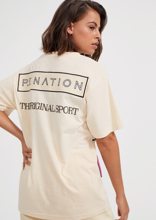 PE Nation | Eastbrook Tee - Ivory
