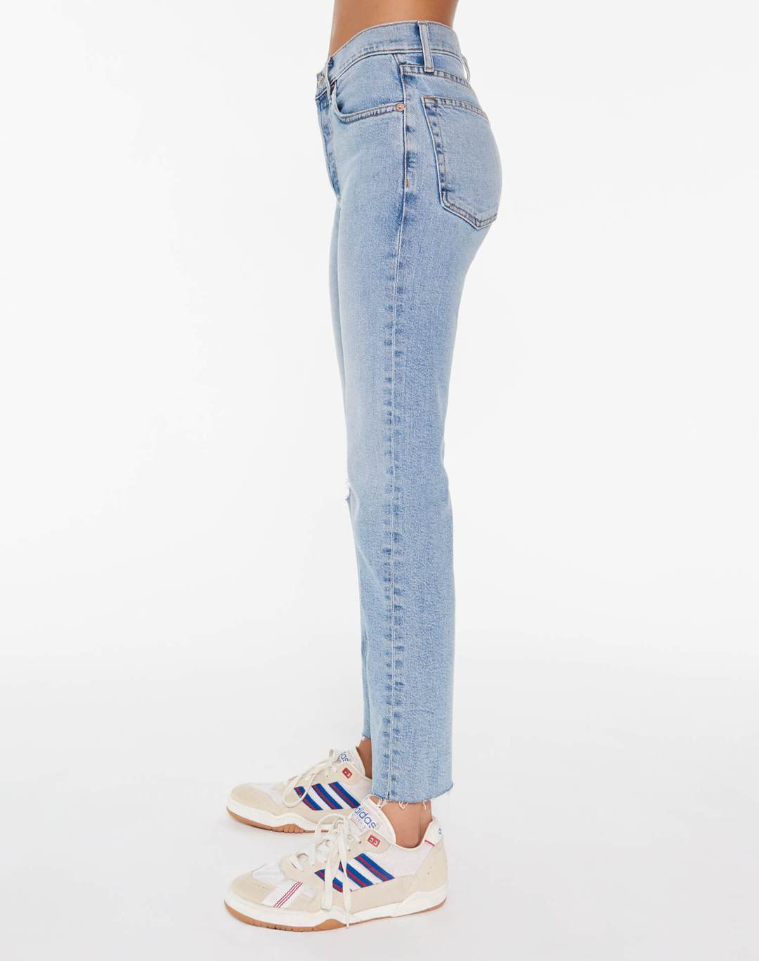 REDONE LLC Womens Jeans RE/DONE | High Rise Stove Pipe Comfort Stretch - Cloudy