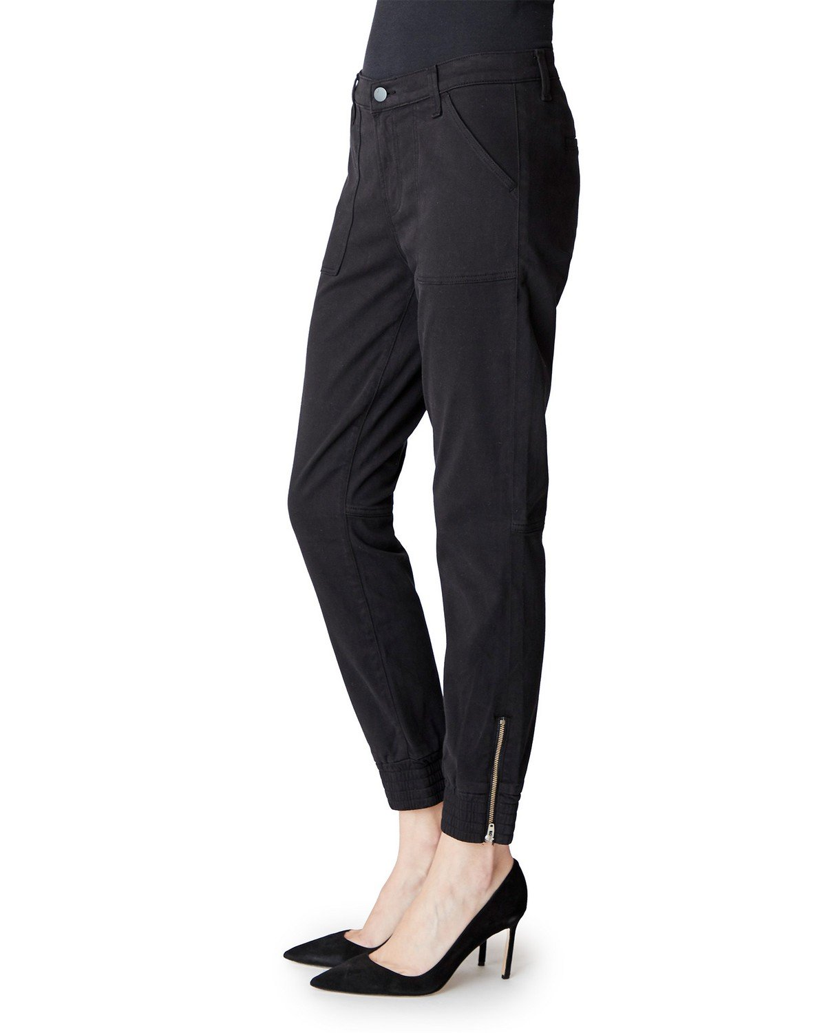 Edwards Imports Ltd Womens Pants J Brand | Arkin Zip Ankle Jogger - Black