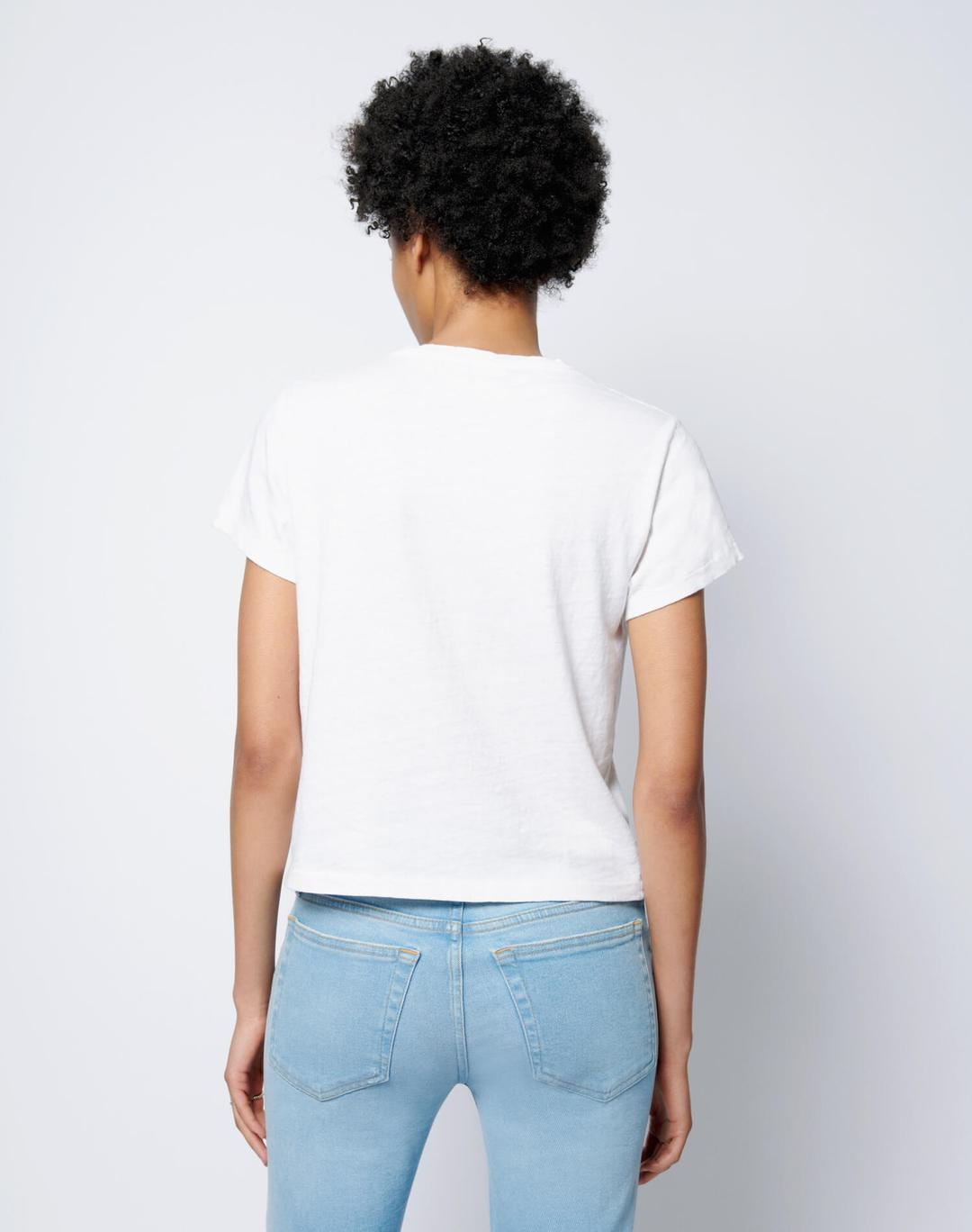 Re Done Womens T Shirt RE/DONE | Classic Tee Shorty's - Vintage White
