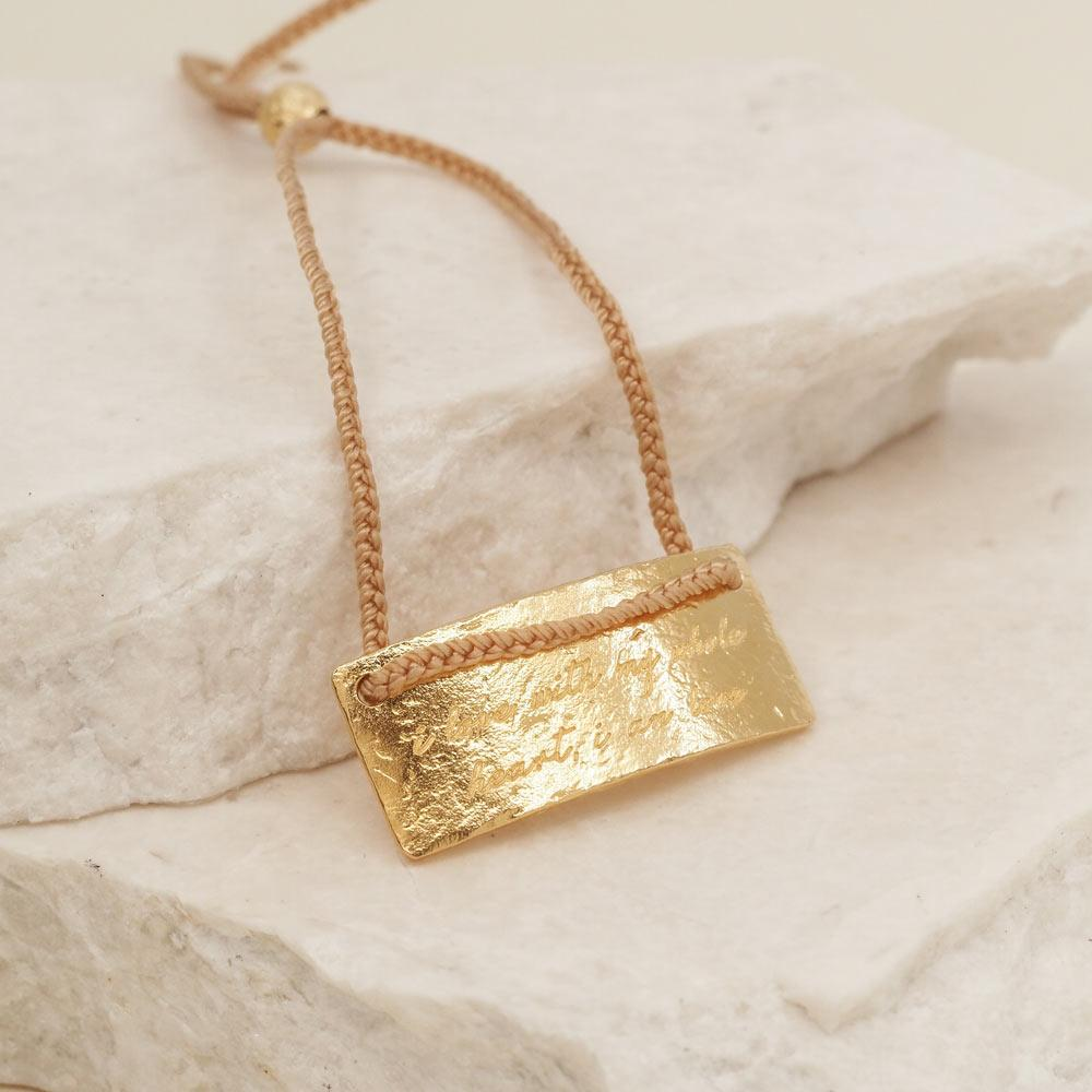 By Charlotte Jewellery GOLD By Charlotte | Libra Cord Zodiac Necklace - Gold