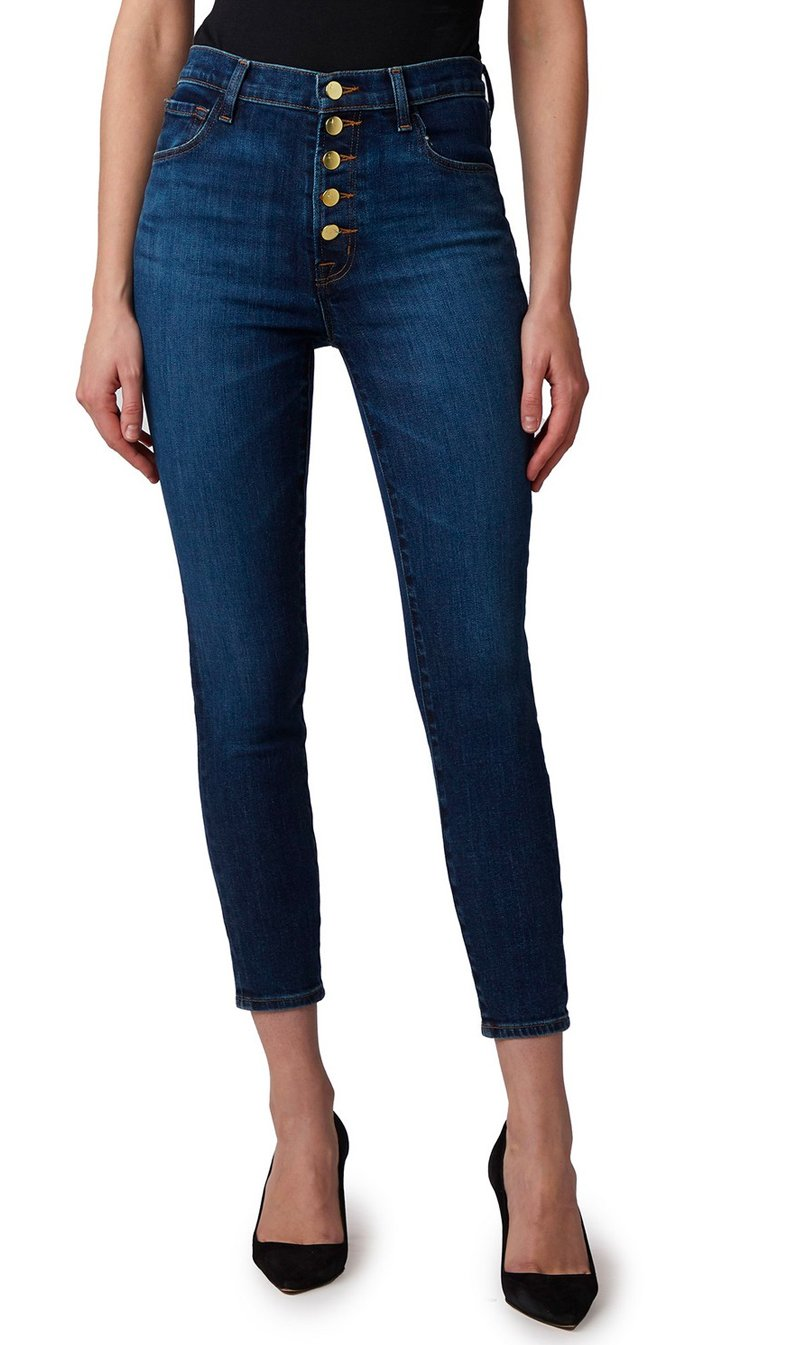 Edwards Imports Ltd Womens Jeans J Brand | Lillie High Rise Crop Skinny - Arcade