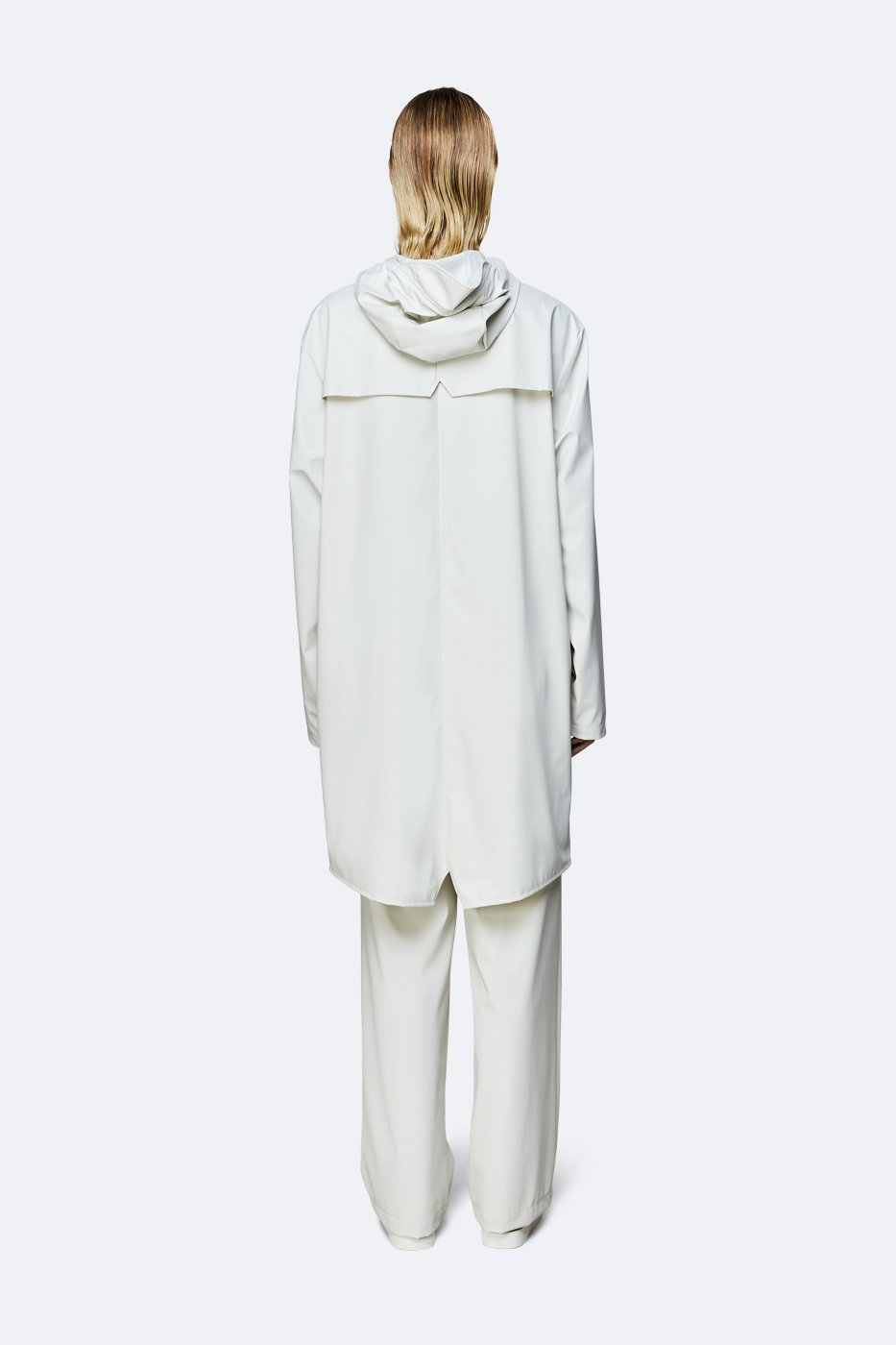 The Market Limited Womens Jacket RAINS | Long Jacket - Off White