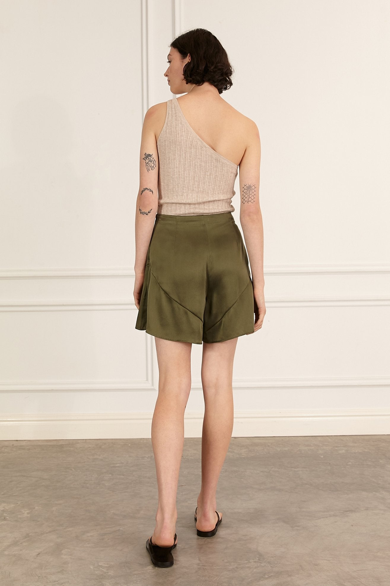 The Market Limited Womens Shorts Marle | Bettina Short - Khaki