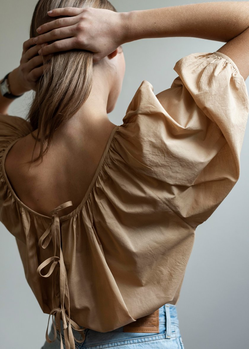 Mahsa Limited Womens Tops Mahsa | Ballet Blouse - Camel