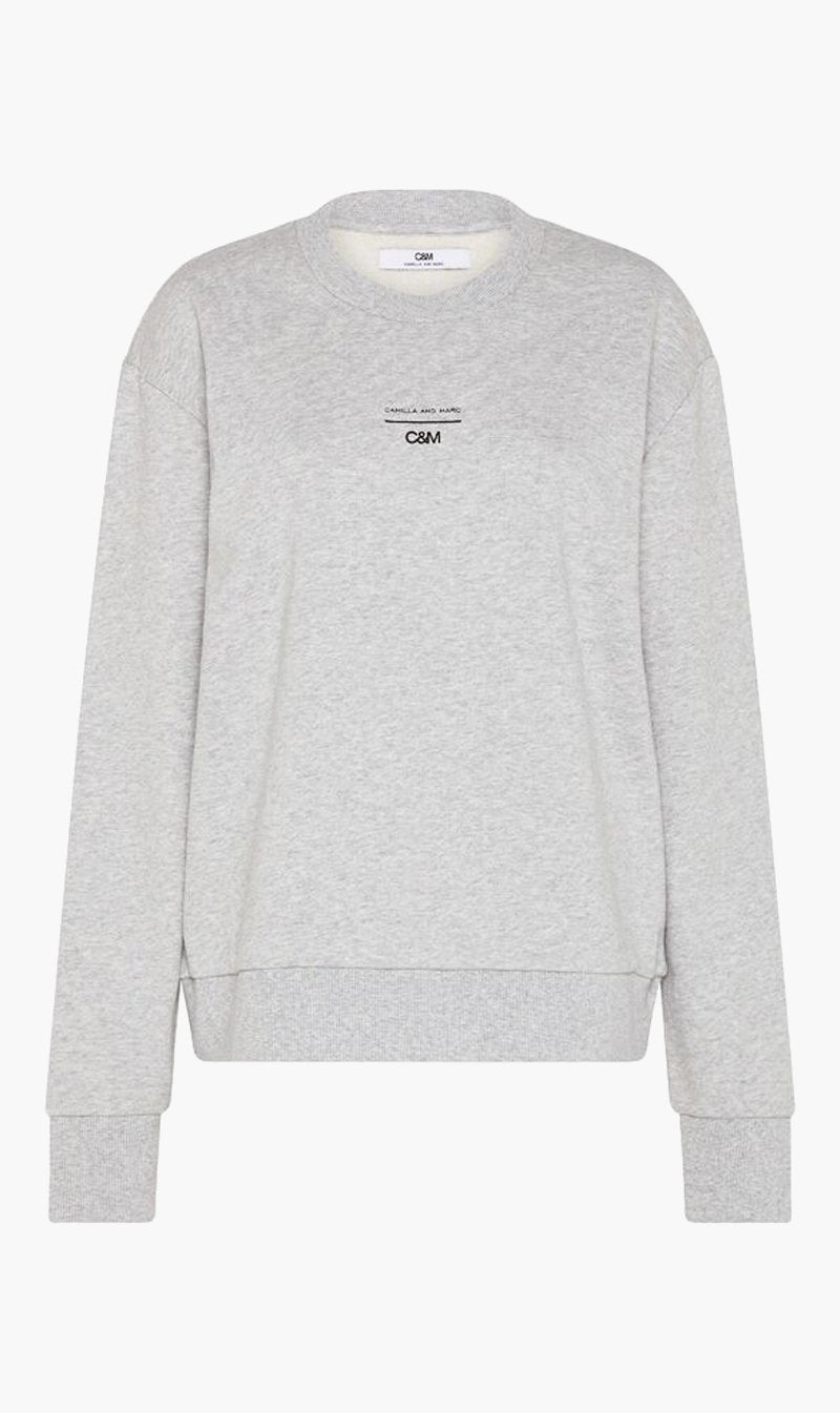 Camilla and Marc Womens Tops C&M | Dunning Crew - Grey