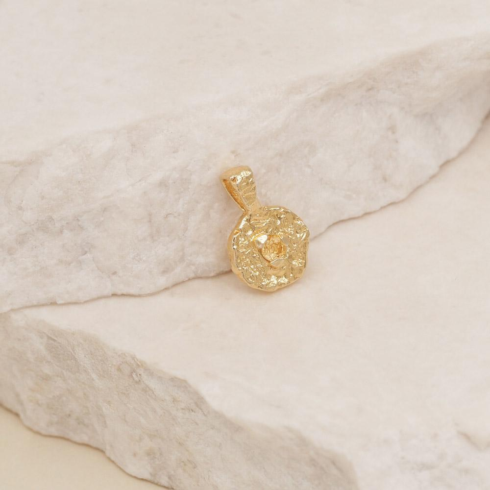 By Charlotte Jewellery GOLD By Charlotte | November Citrine Birthstone Pendant - Gold