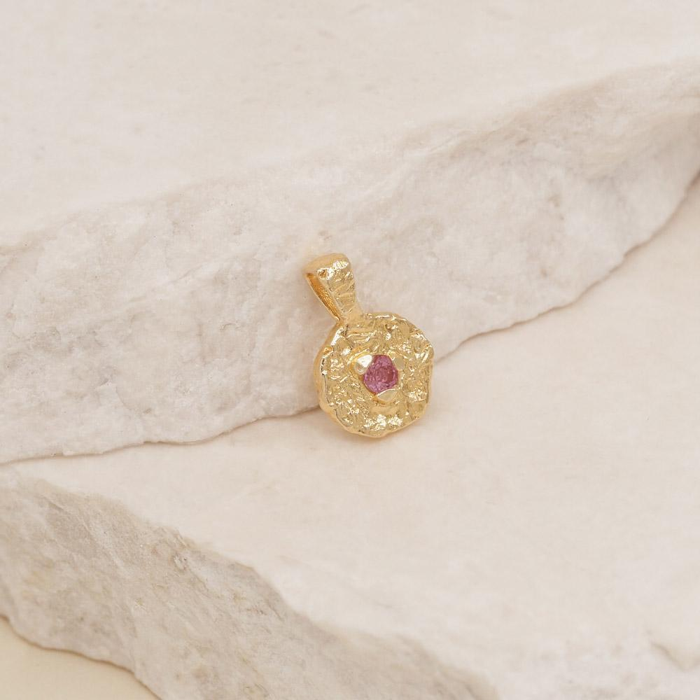 By Charlotte Jewellery SILVER By Charlotte | October Tourmaline Birthstone Pendant - Silver