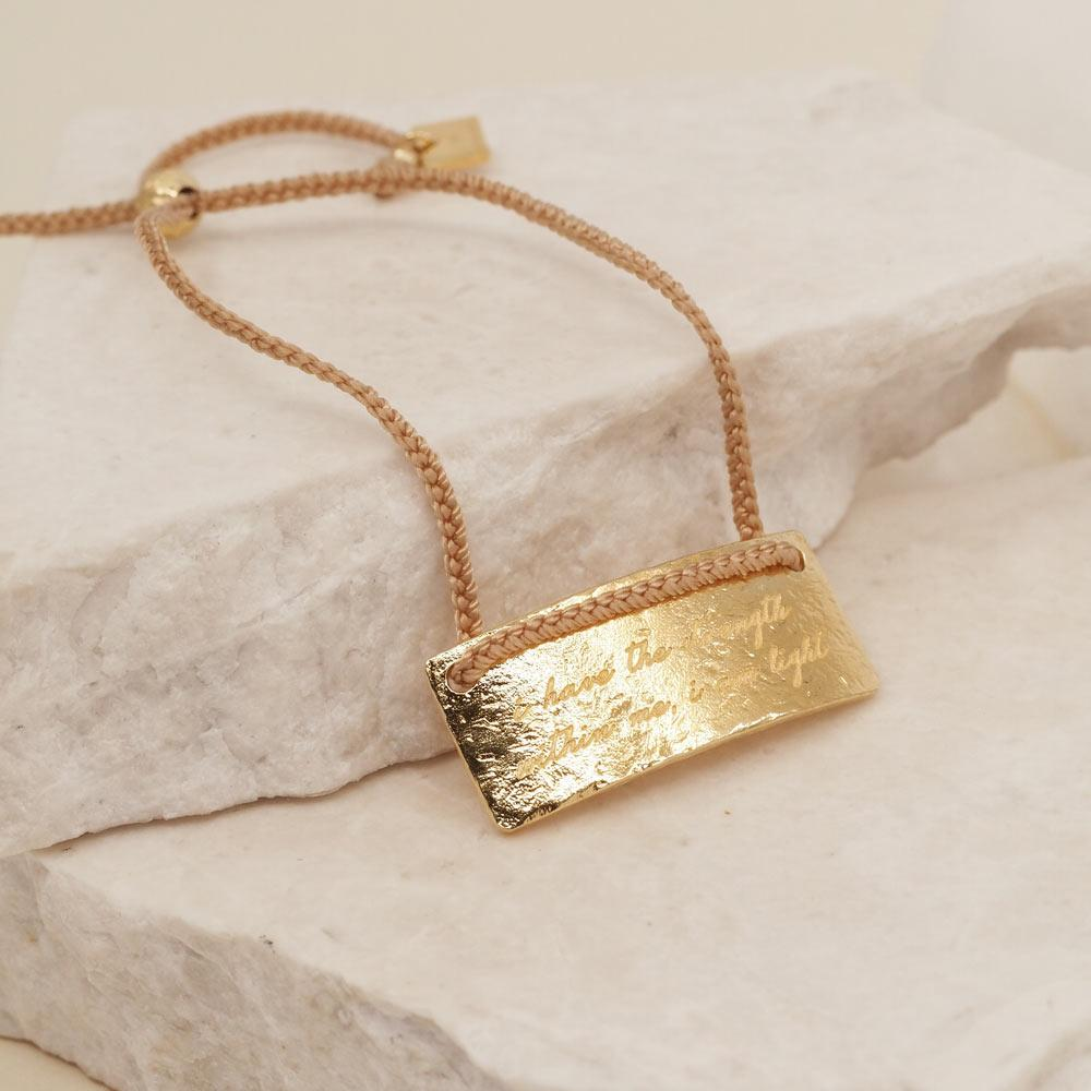 By Charlotte Jewellery GOLD By Charlotte | Scorpio Cord Zodiac Bracelet - Gold