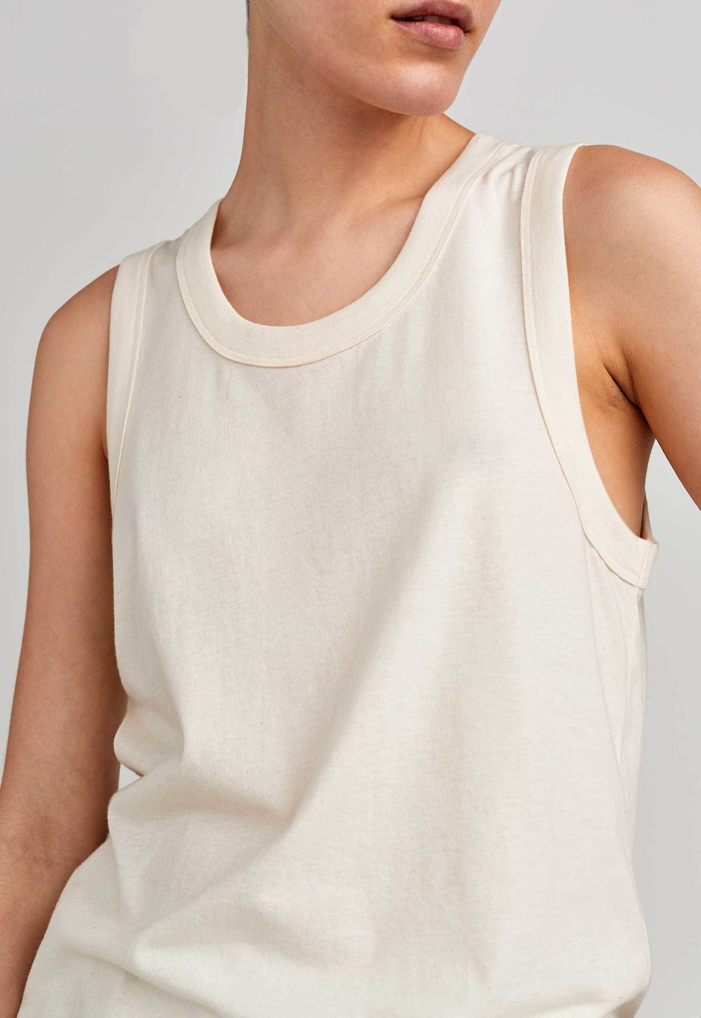 Jac and Jack Pty Ltd Womens Singlet Jac + Jack | Soin Tank - Natural