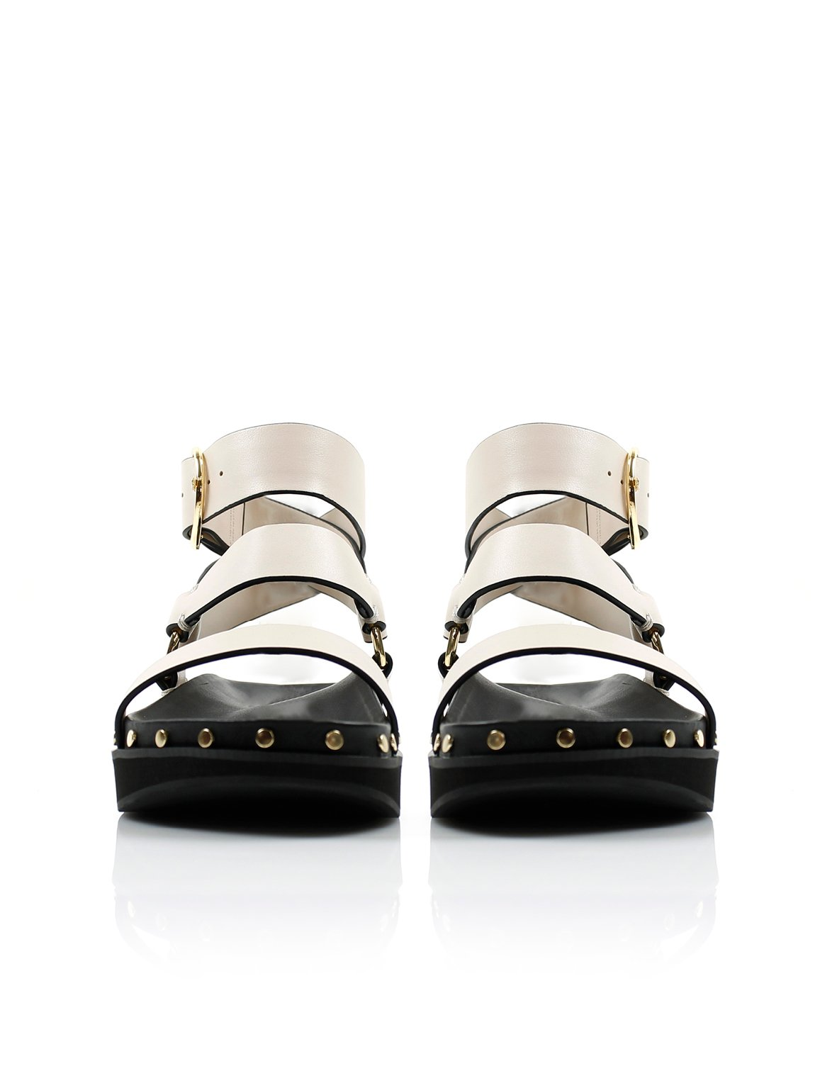 Summer Supply Ltd SHOE La Tribe | Studded Sandal - Bone