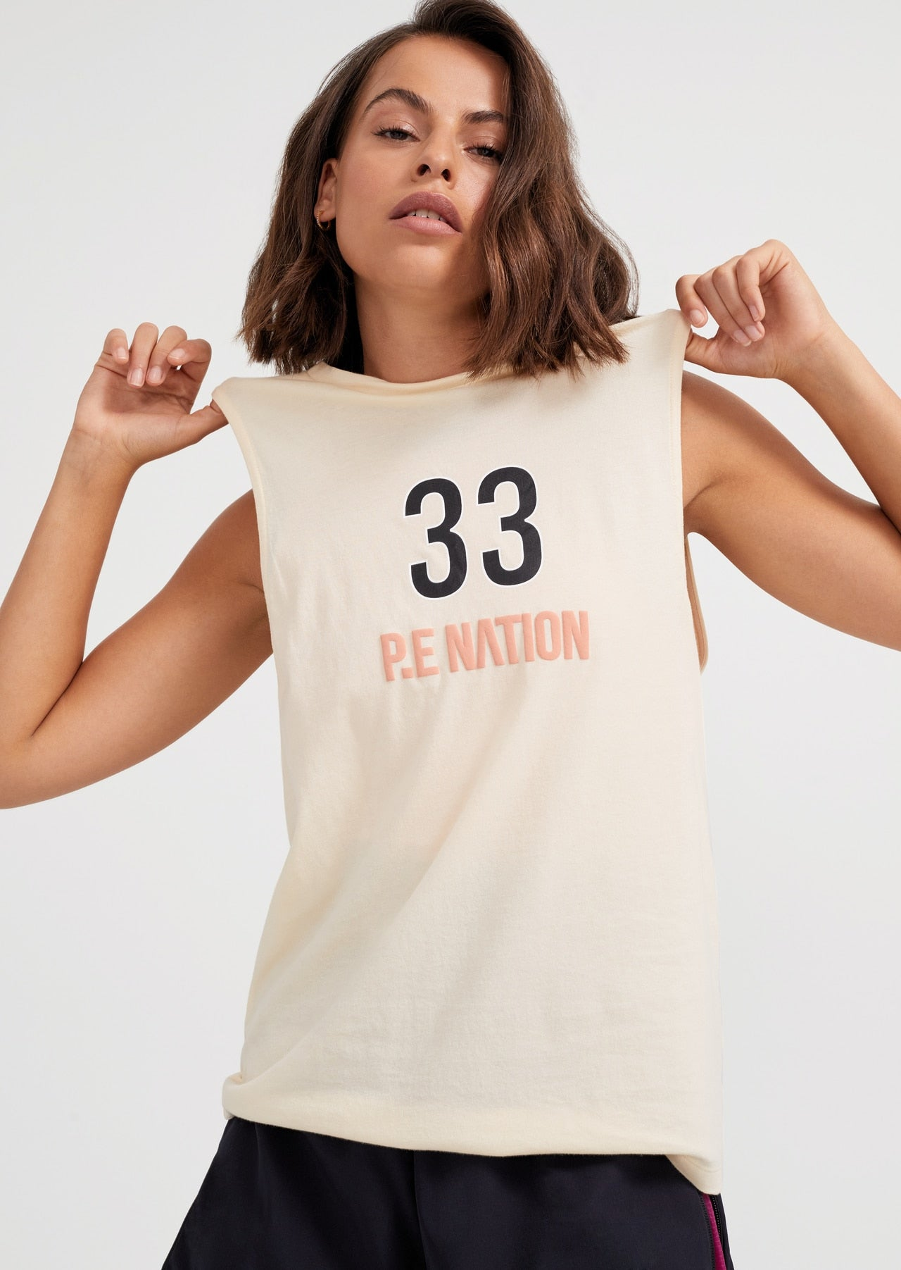 PE Nation | Triple Double Tank - Ivory