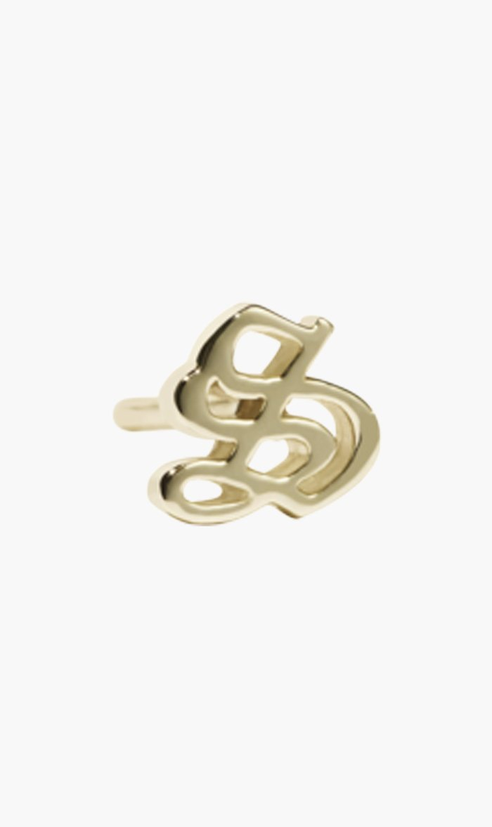 Meadowlark Jewellery GOLD / B Meadowlark | Letter Stud Single - Gold