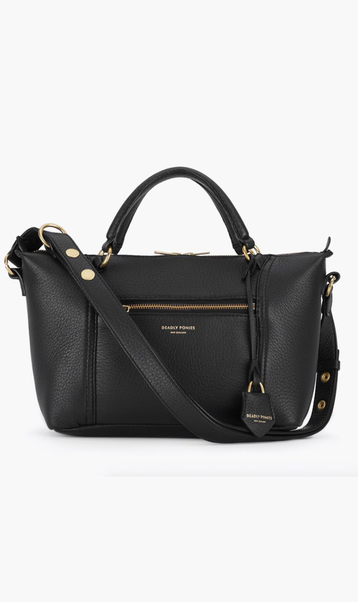 DEADLY PONIES BAG BLACK Deadly Ponies | Mr Mini Fill N Buckle - Black
