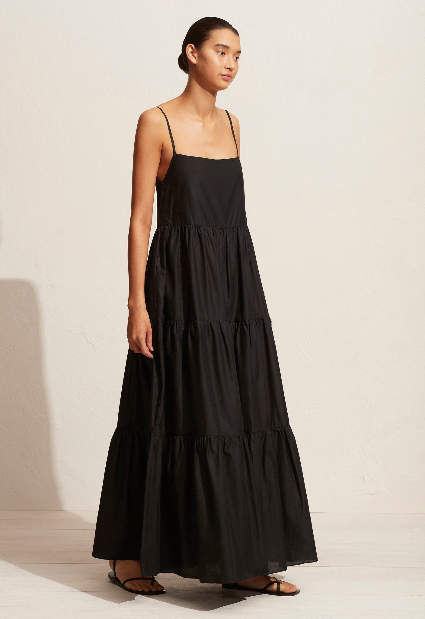 Matteau | Tiered Low Back Sundress - Black