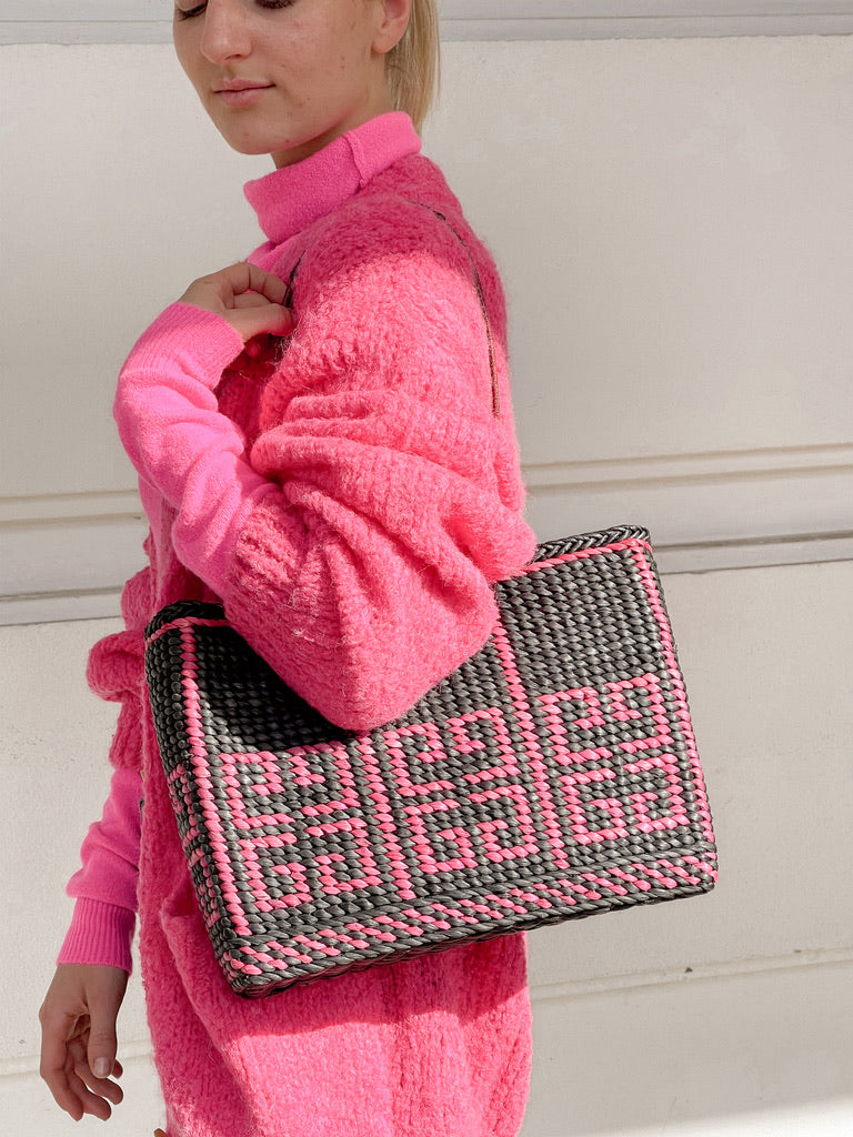 GIVENCHY | Wicker Tote - Pink/Black