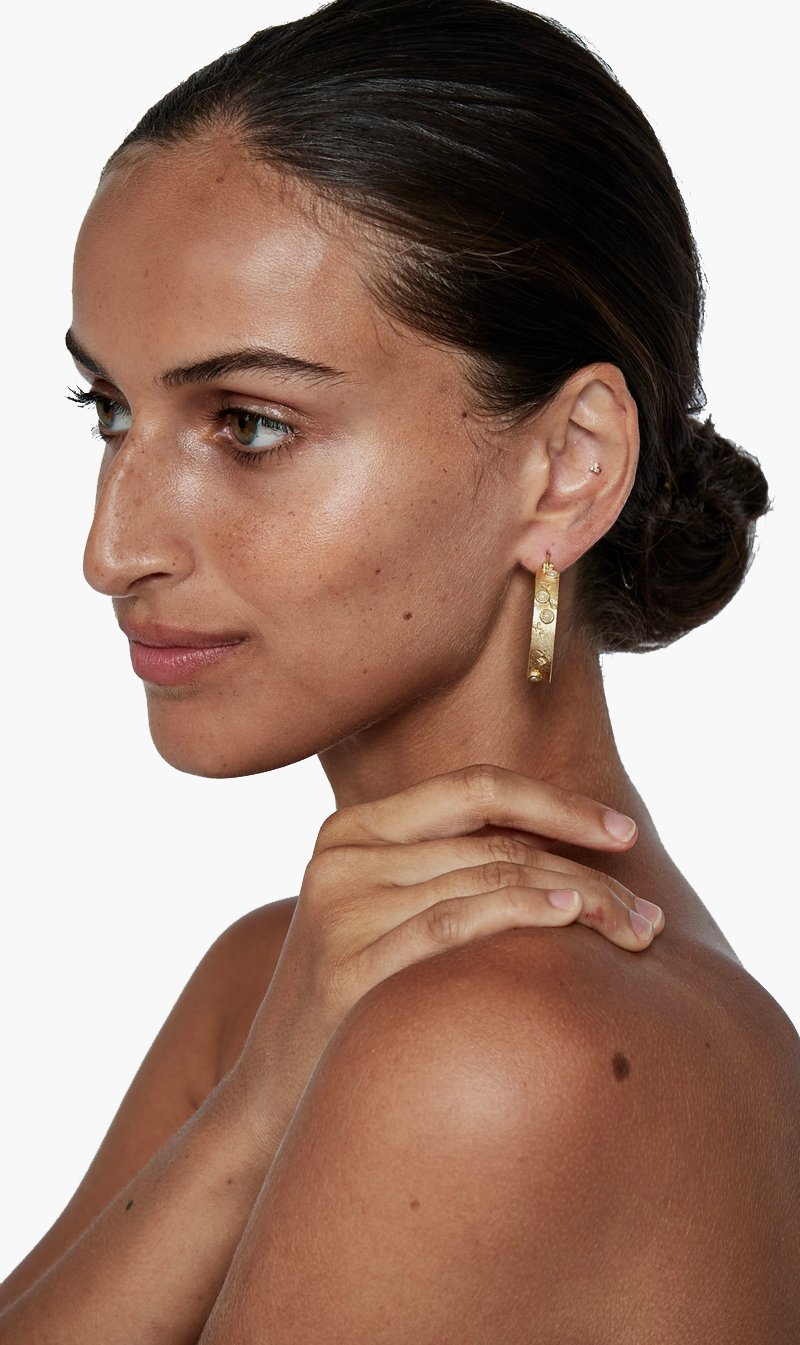 Jacinta James Jewellery GOLD Jacinta James | Ode to the Moon Earring - Gold