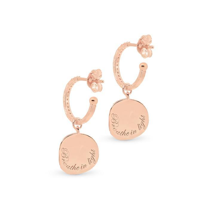 By Charlotte Jewellery RSEGLD By Charlotte | Goddess of Air Hoops - Rose Gold