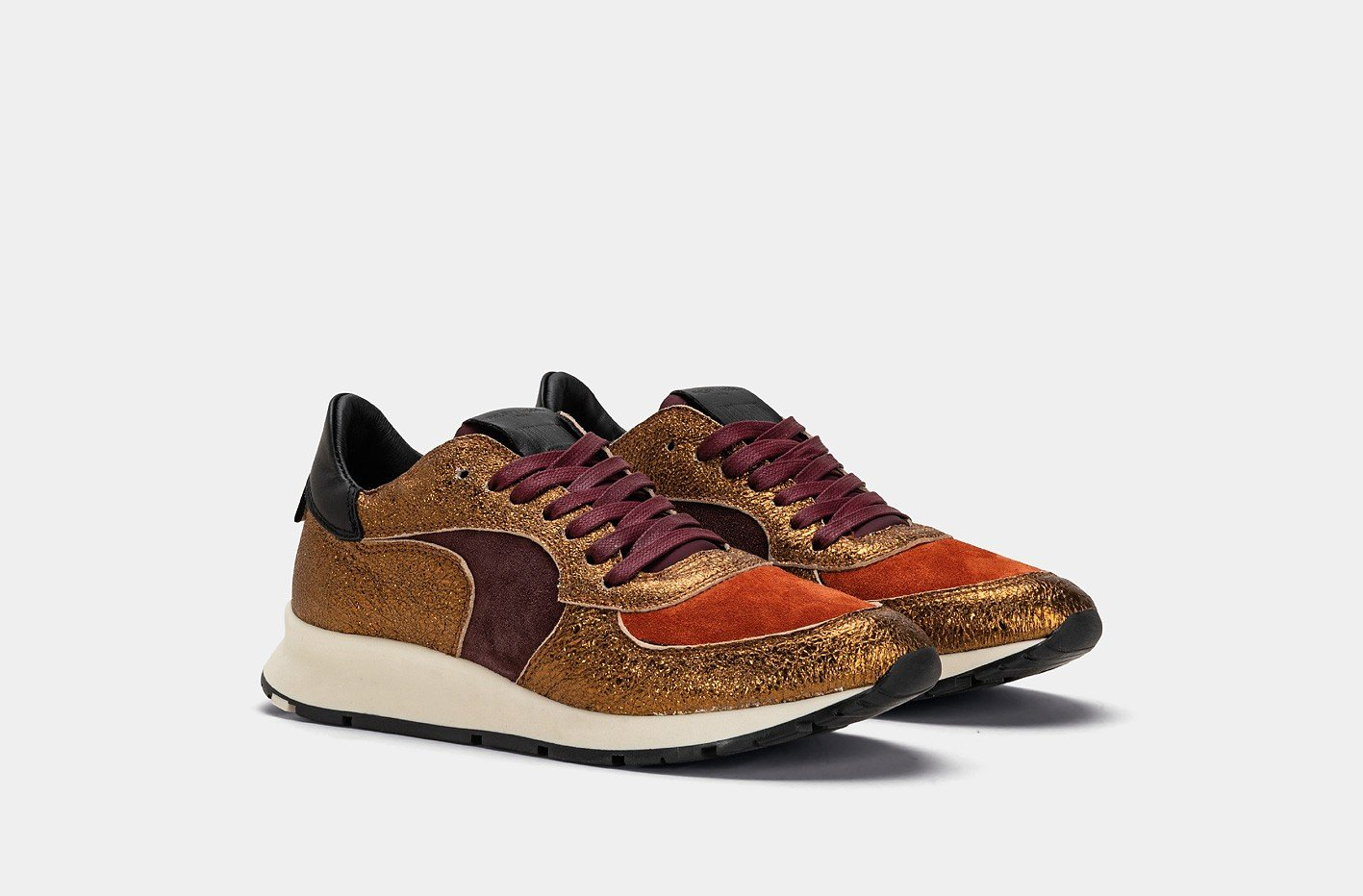 Philippe Model SHOE Philippe Model | Montecarlo LD 70' Daim Sneaker - Bronze