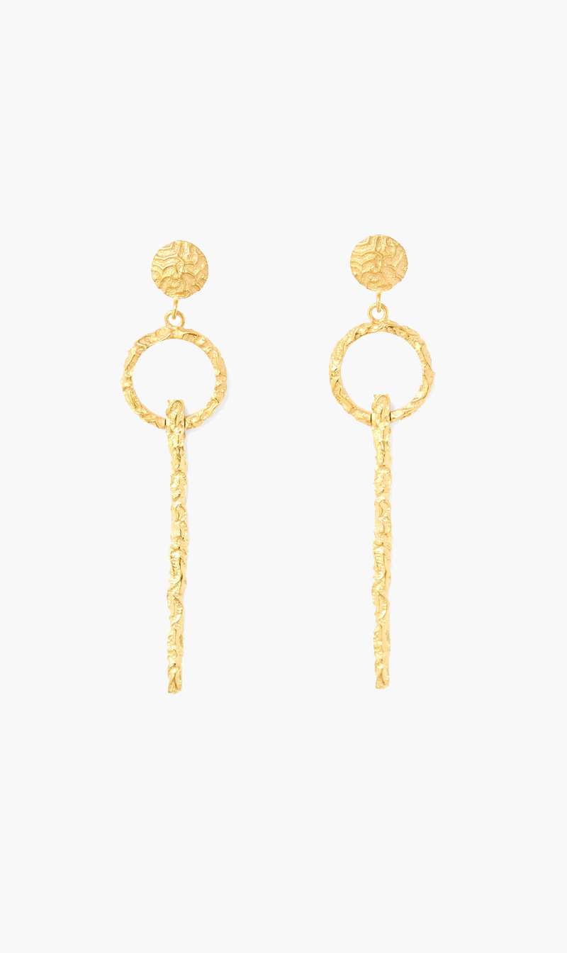 Love & Object Jewellery GOLD Olympia by Love & Object | Adona Keyhole Earrings - Gold
